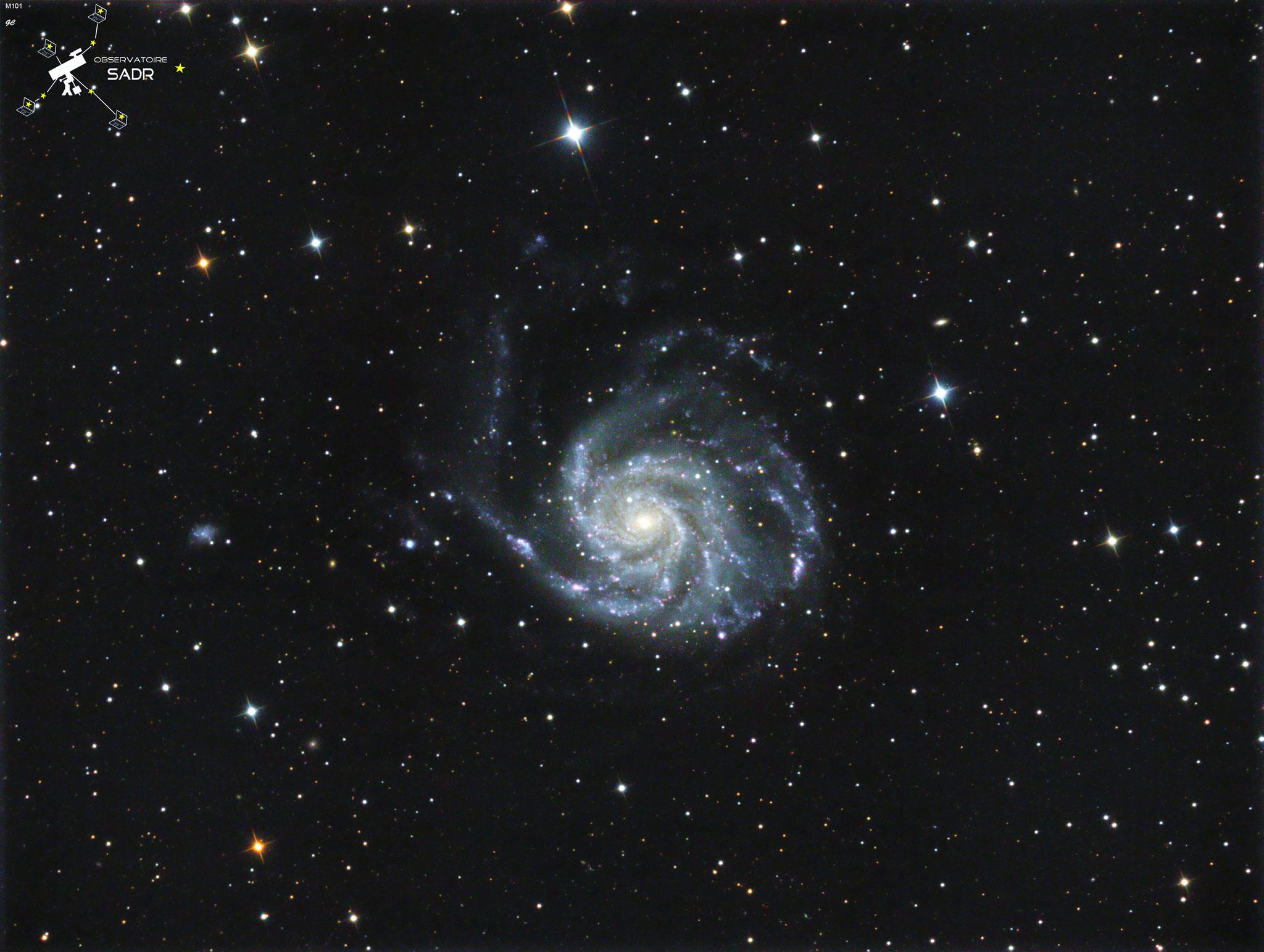 M101, Ha (8 x 10min), L(16 x 5min), RVB (8 x 3min), mai 2017, Gilles