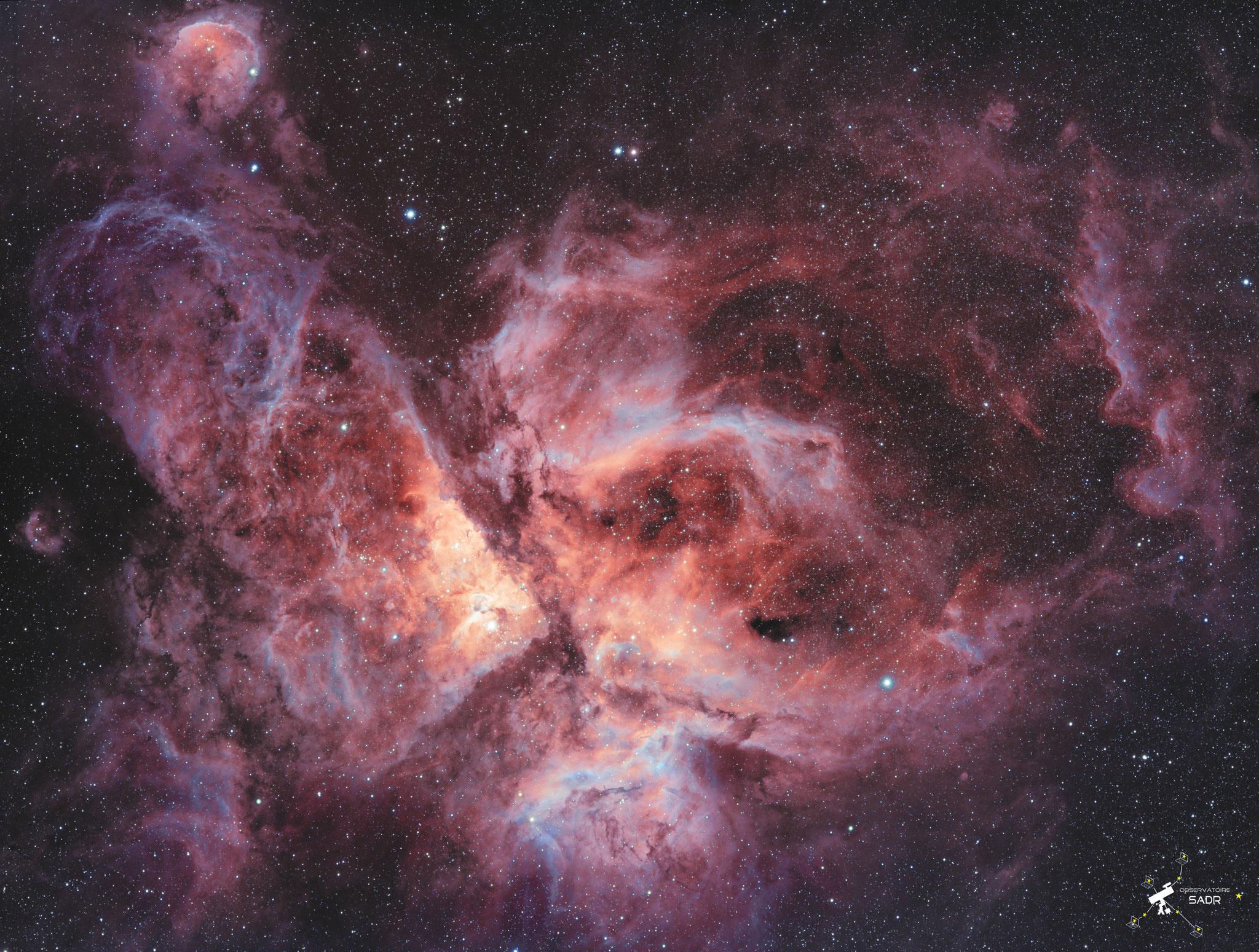 NGC 3372, SHO, lunette 71, Nicolas