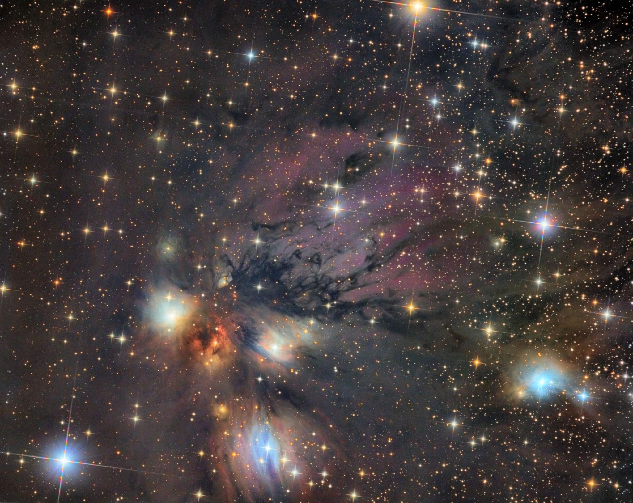 NGC2170, à 2400 al dans la constellation de la Licorne, T355, LRVB = 8h, Fabien, Sadr Chili