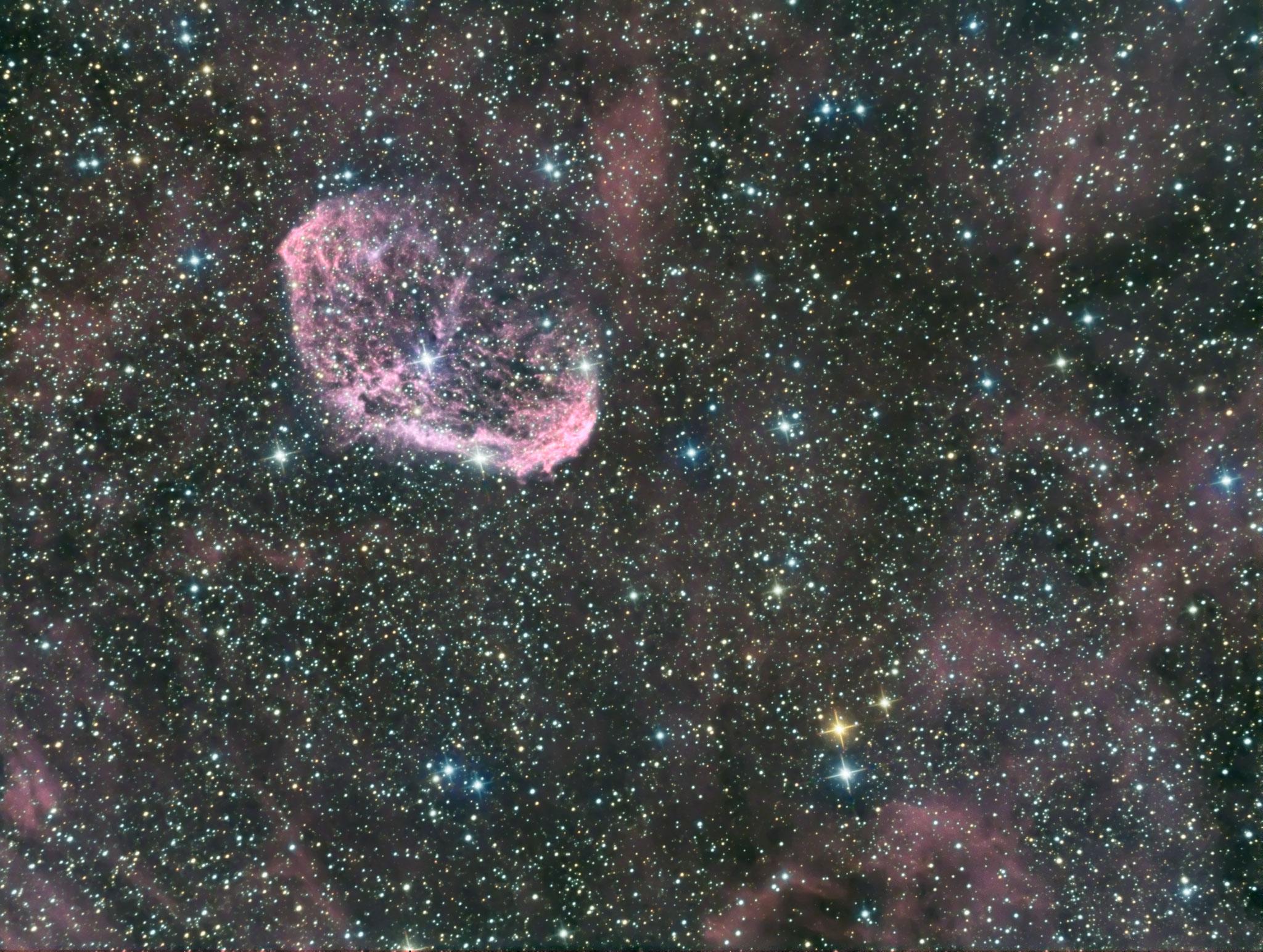 NGC6888, Ha (8x600), RVB (7x180), David et Fabien, 3 septembre 2016
