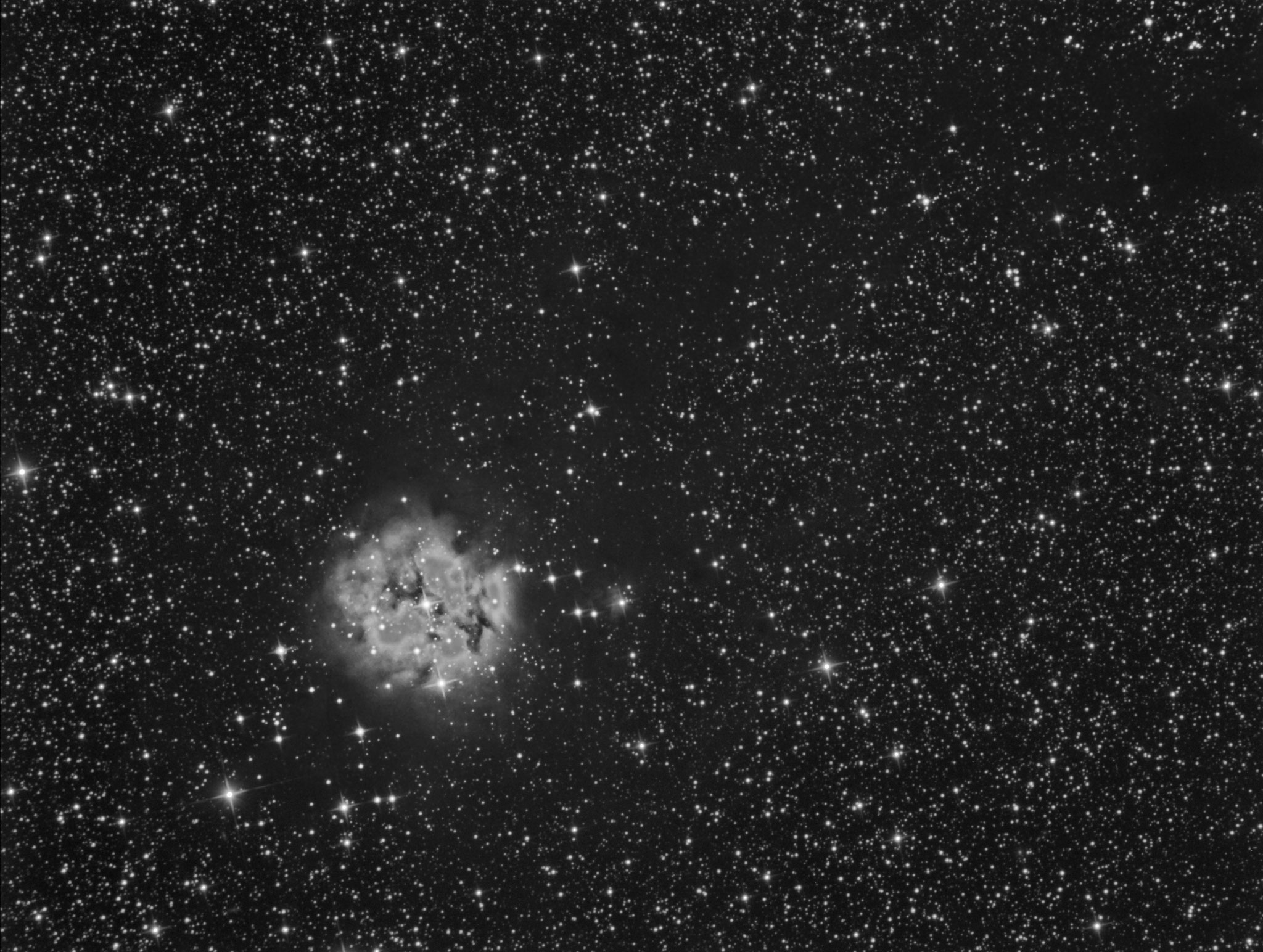 IC5146, 6x300s en luminance, image de test, 25 août 2016