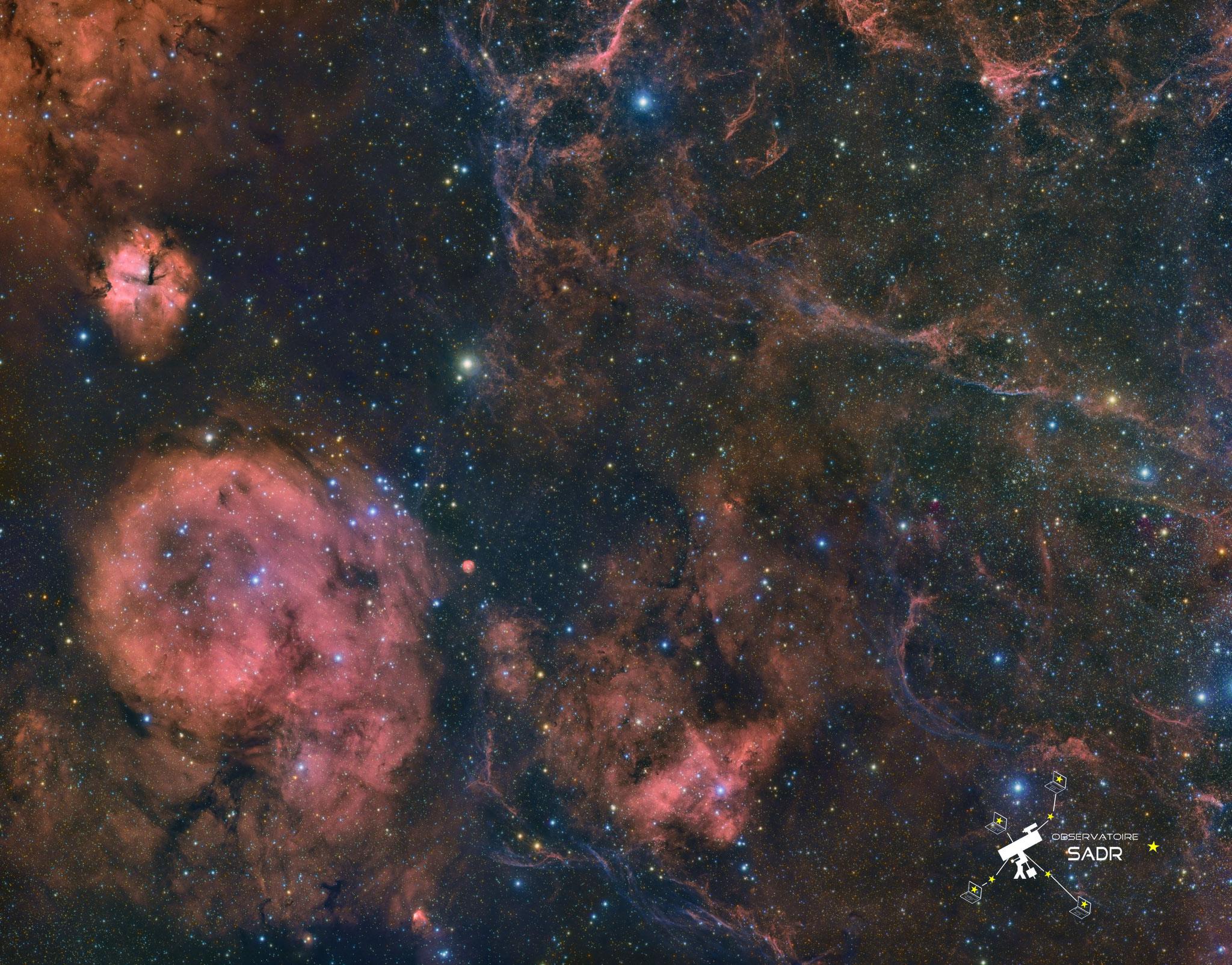 Nébuleuses dans la constellation des voiles, Fabien, Sadr Chili