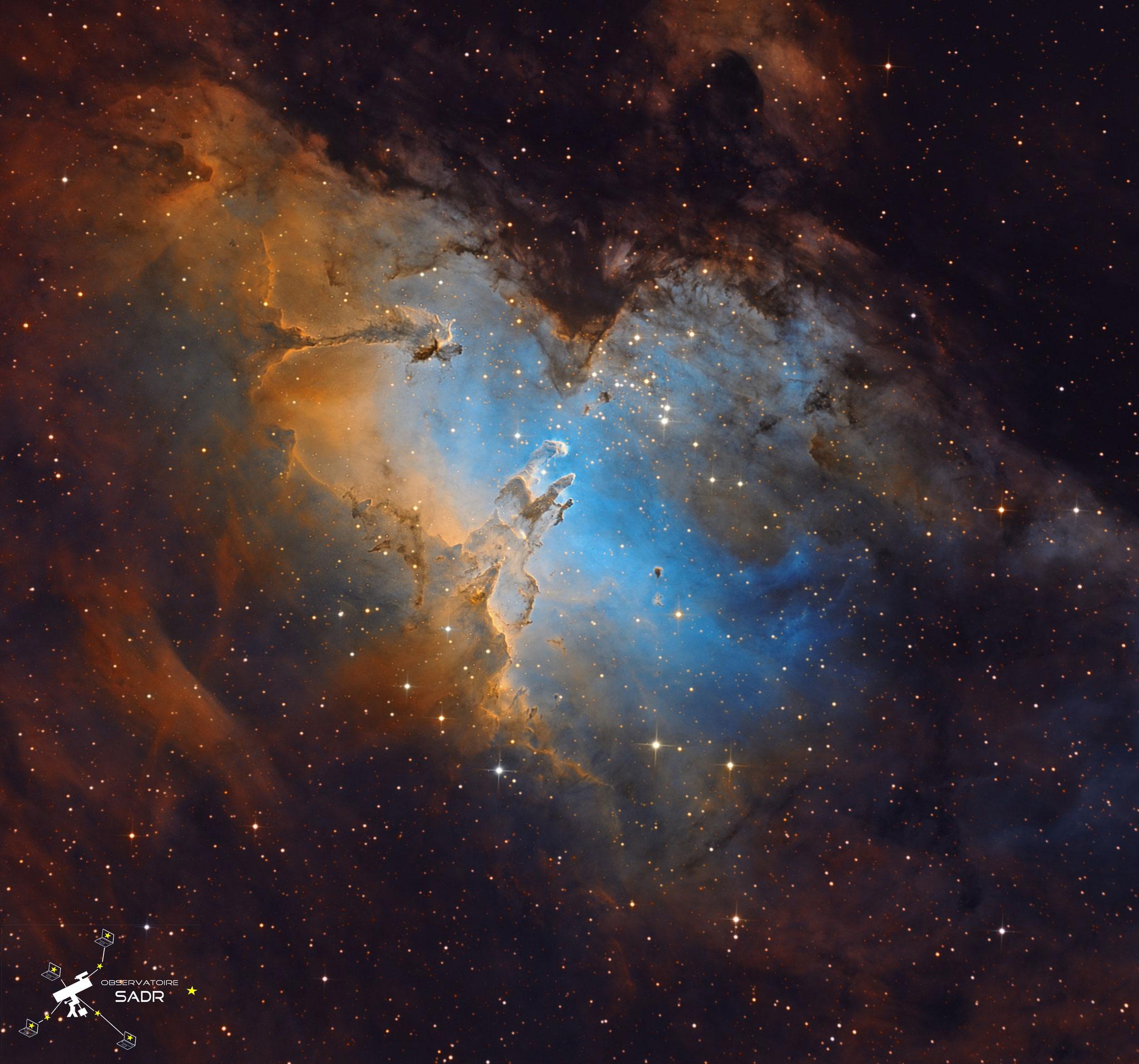 M16, la nébuleuse de l'Aigle, total 22h, septembre 2019, Arnaud
