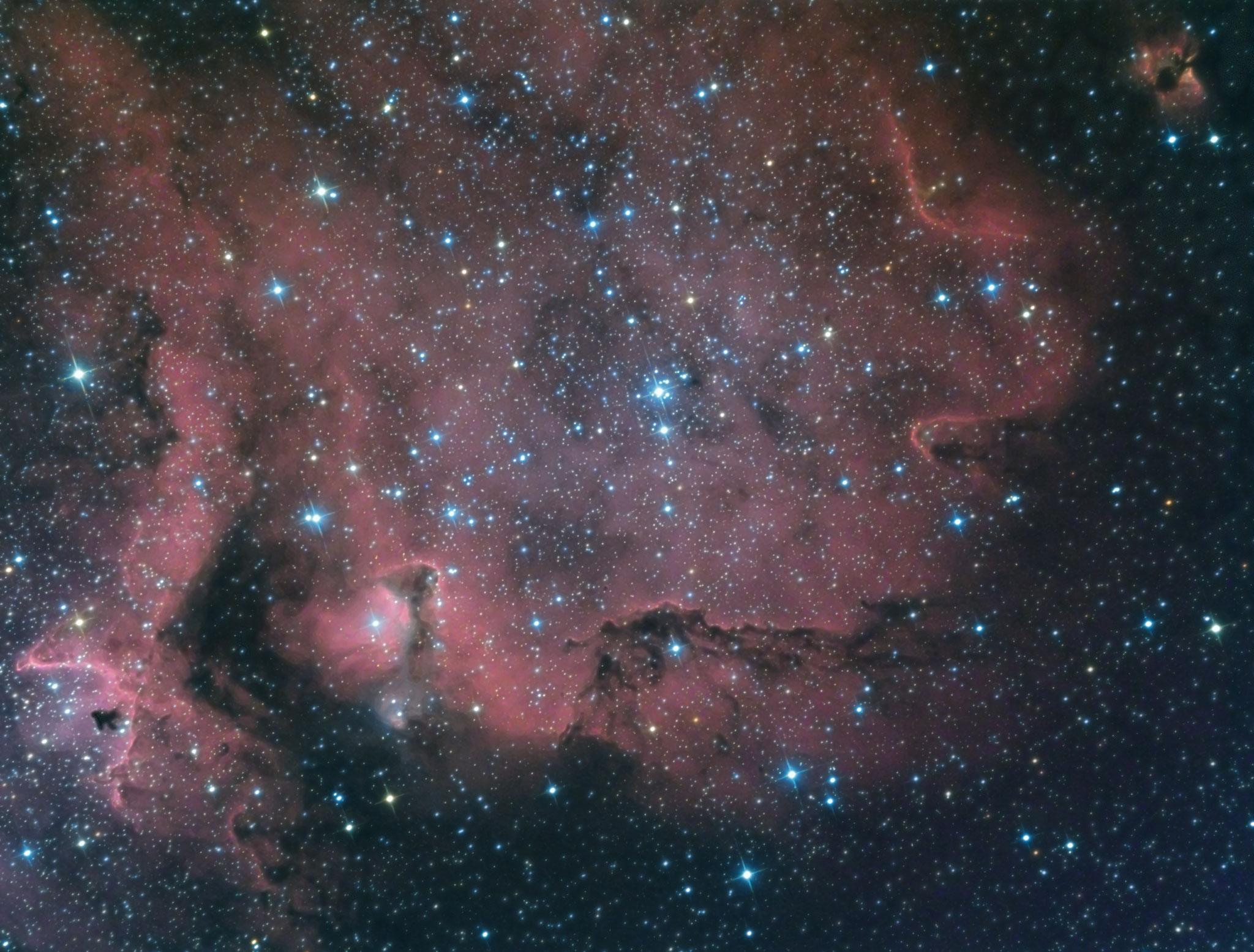 IC1848, la nébuleuse de l'âme, Ha (34 x 600), RVB (12 x 120), octobre 2016, Fabien