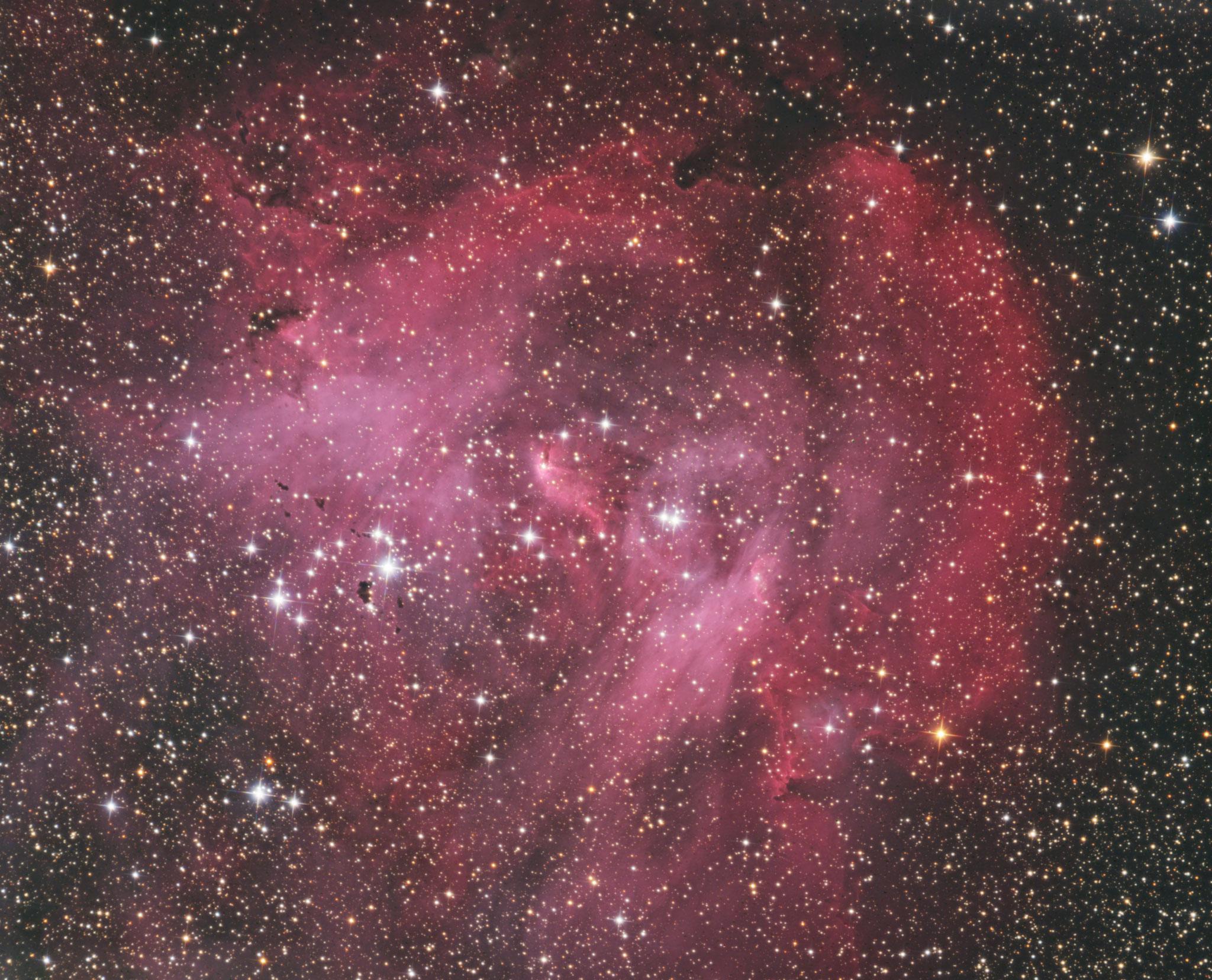 IC2944, nébuleuse à émission associé à un amas ouvert, constellation du Centaure, T355 Chili, mars 2018