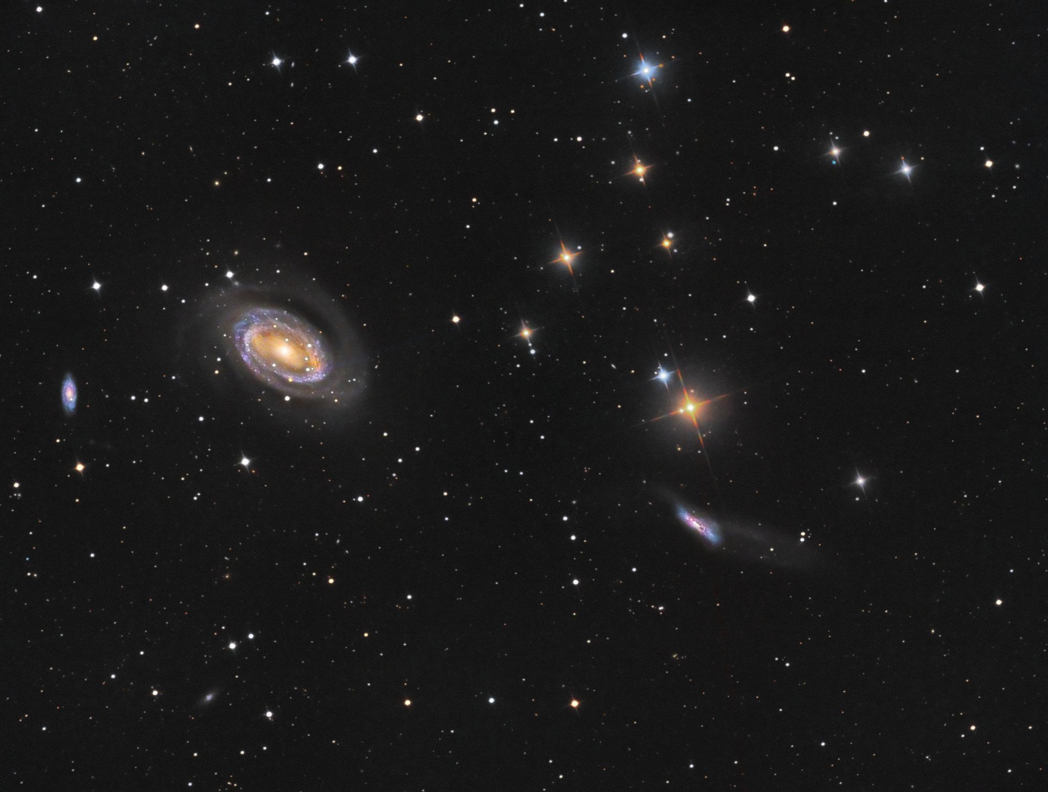 NGC4725 et ses voisines, 7h de pause, 26 février et 2 mars, Nicolas