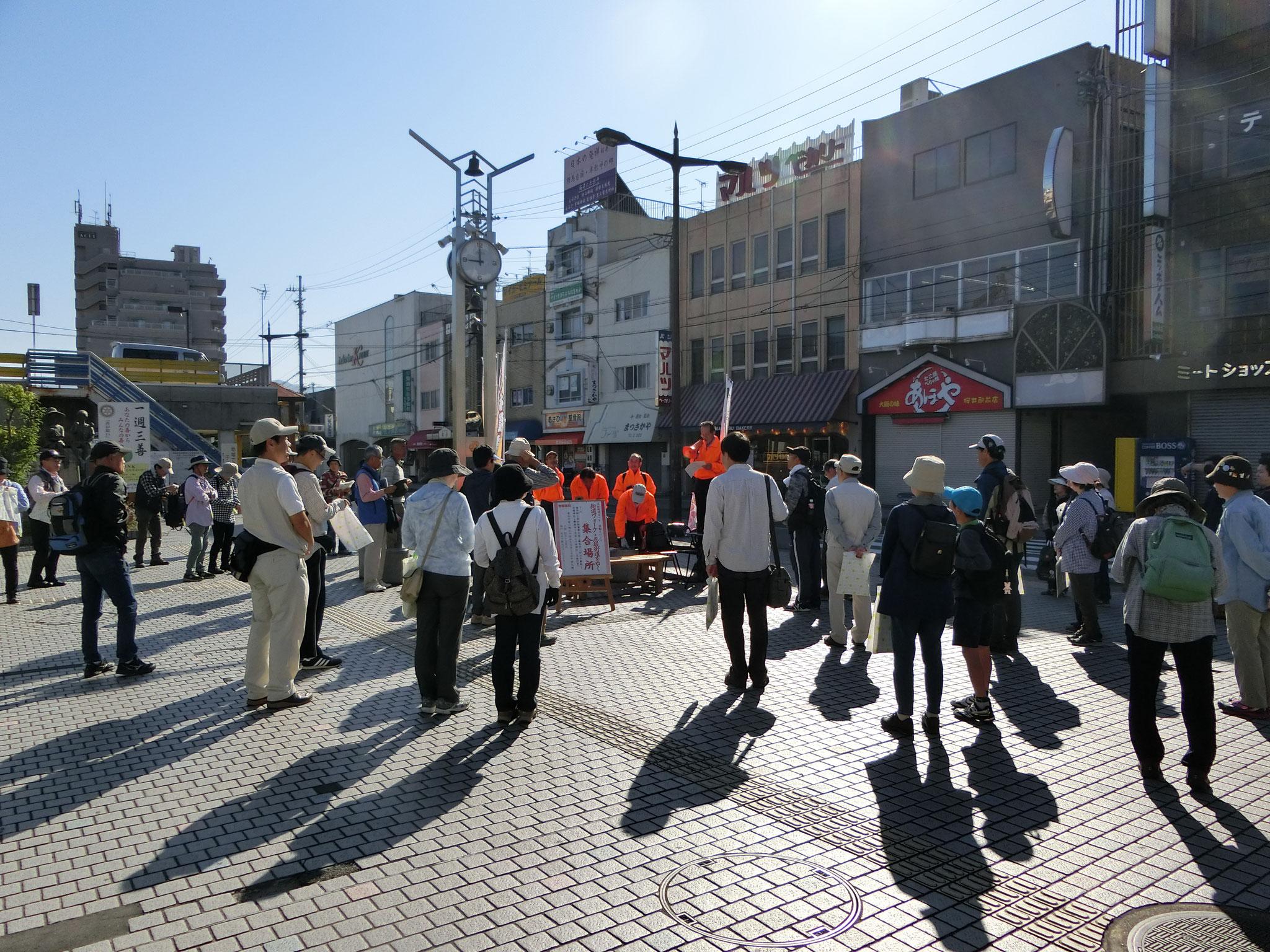 街道ウォークのスタートは桜井駅南口。