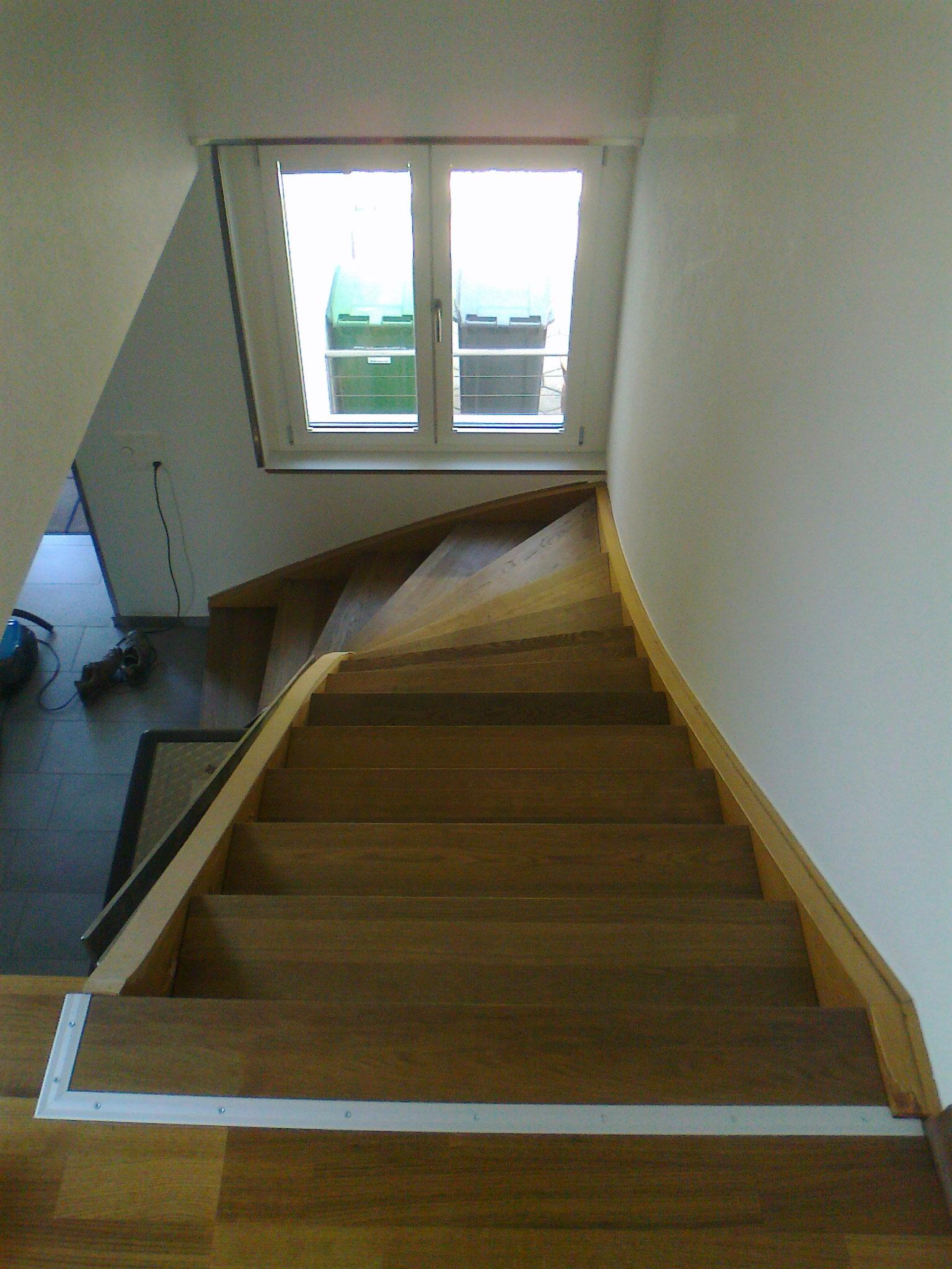 neue Stufen aus Eichenholz