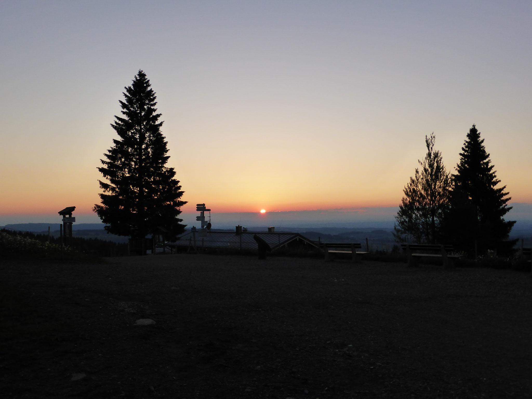 Sonnenuntergang auf dem Imberg