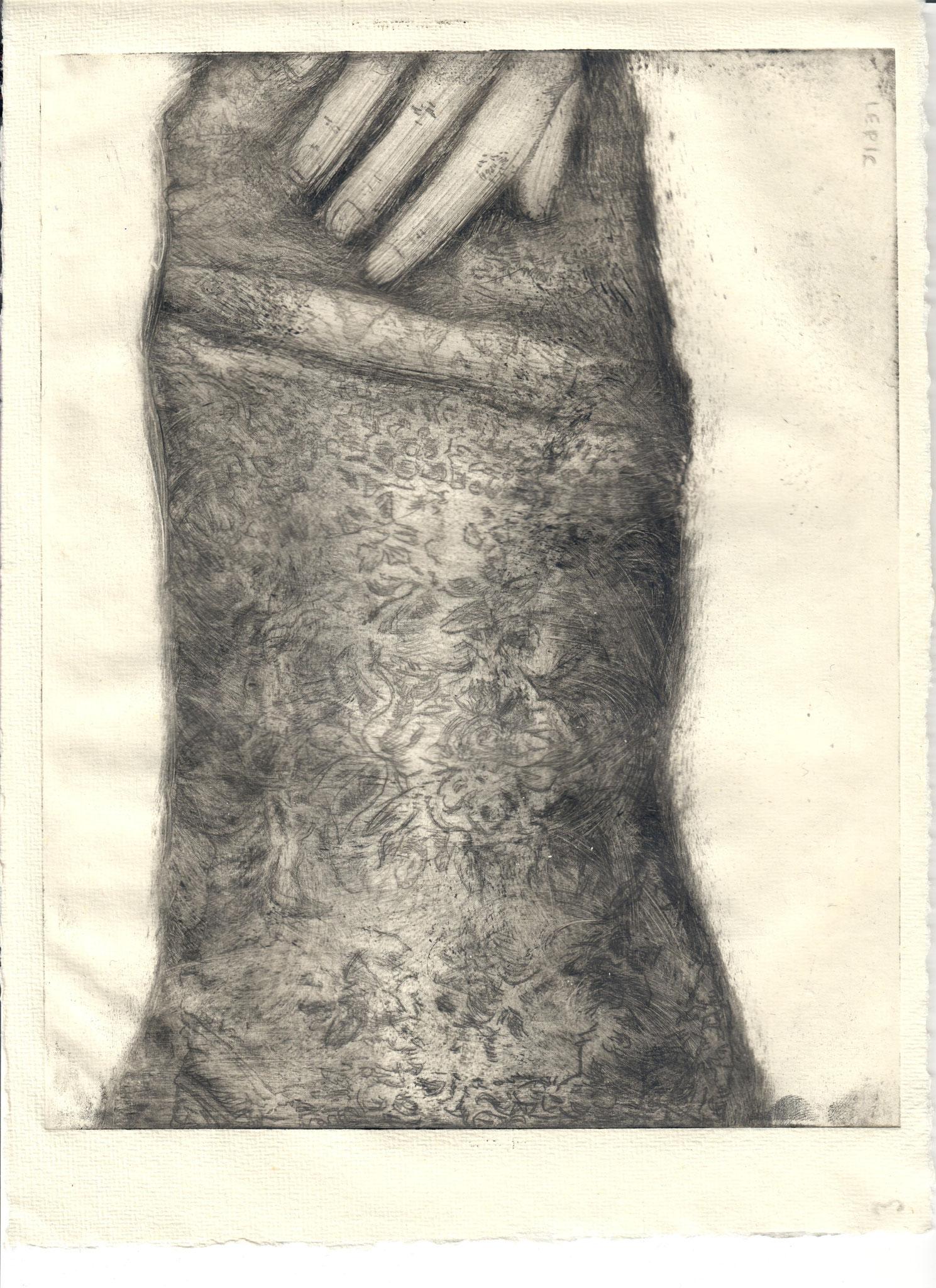 TESSUTO AL DELTA DEL PO     Radierung - 29 x 21 cm