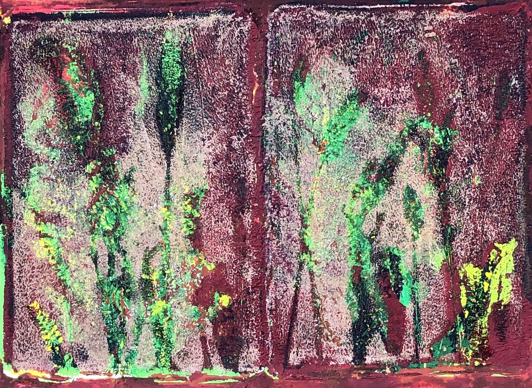 WINGS-MUMBO LINK Acryl auf Papier - 40 x 30 cm