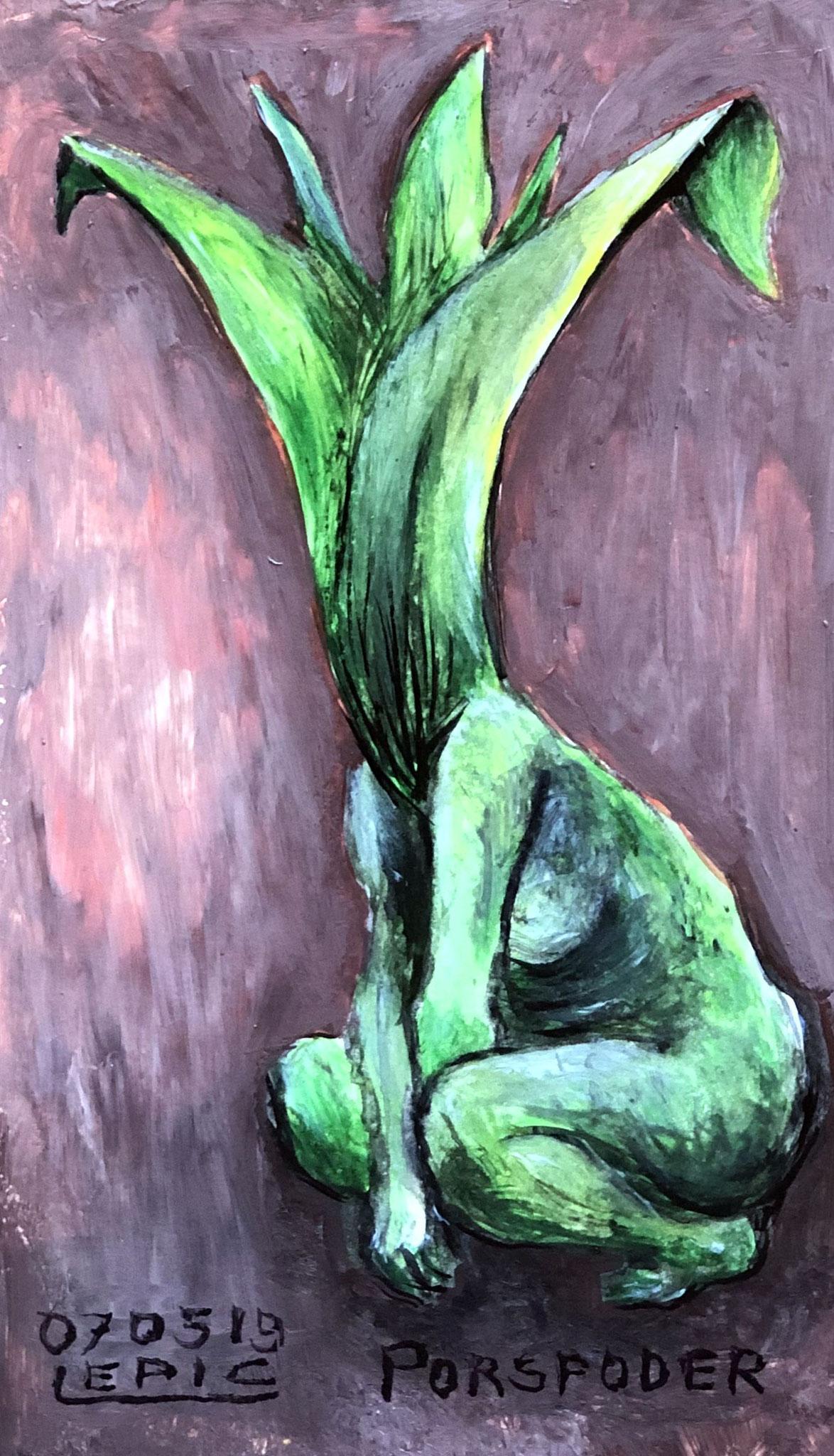LEIMONIADE, Gouache auf Karton - 17 x 10 cm