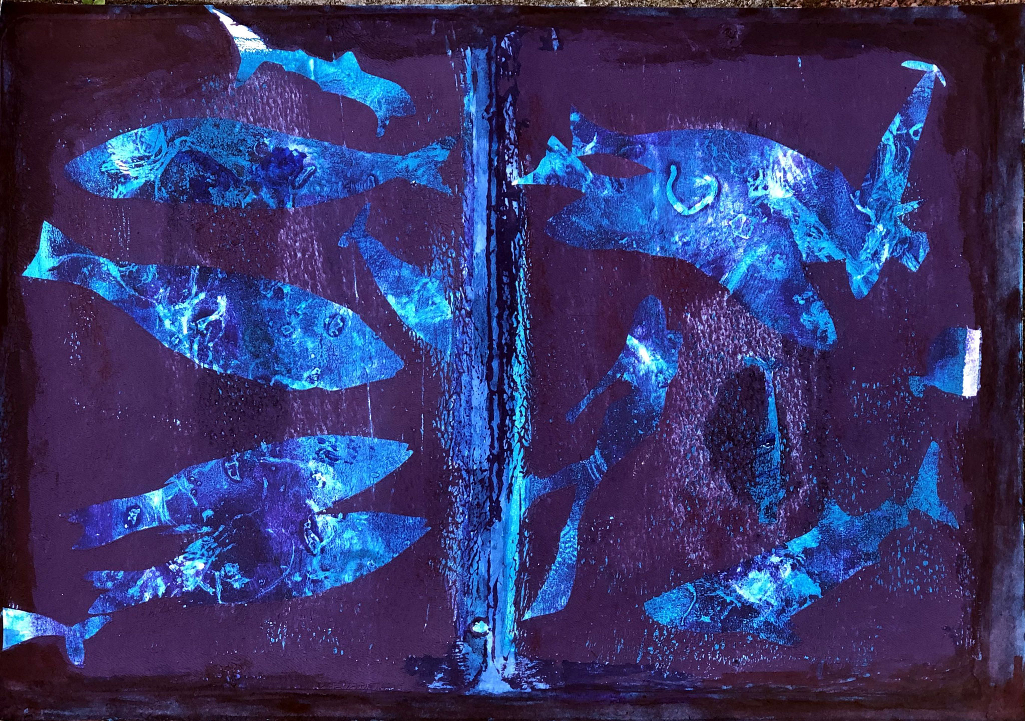 WINGS-WILD LIFE Acryl auf Papier - 36 x 48 cm