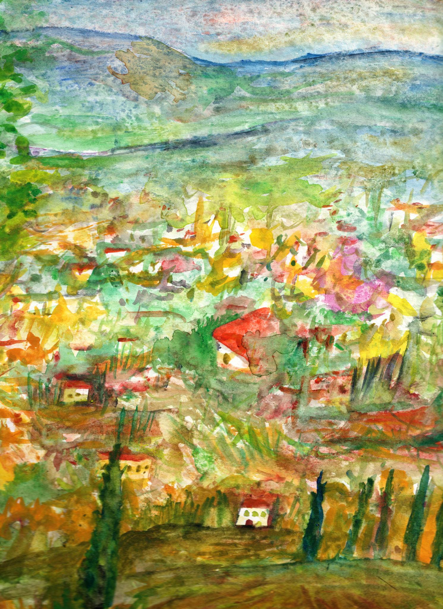 CHEZ BONNARD, CANNES     Aquarell auf Papier - 40 x 30 cm