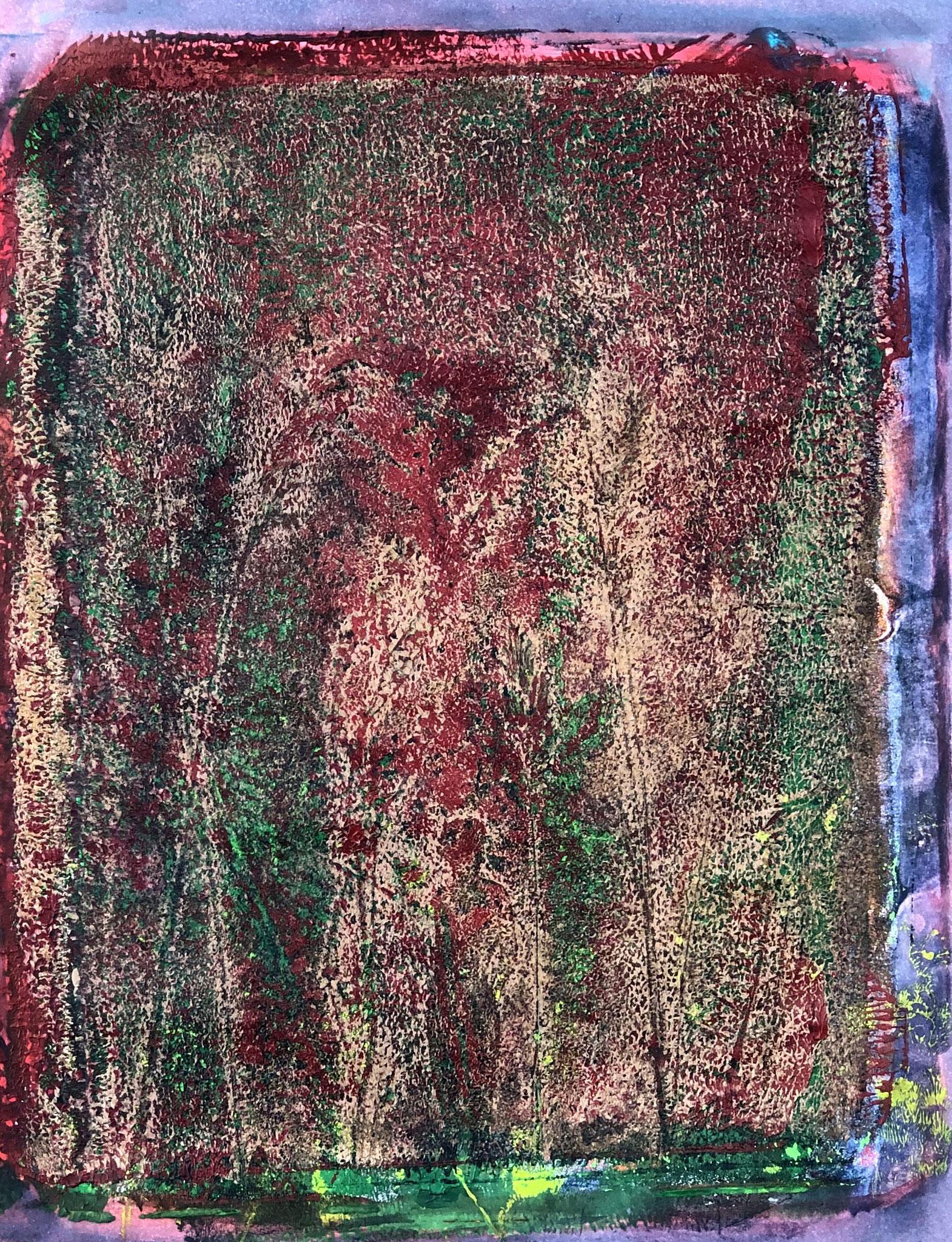 WINGS-I AM YOUR SINGER Acryl auf Papier - 36 x 48 cm