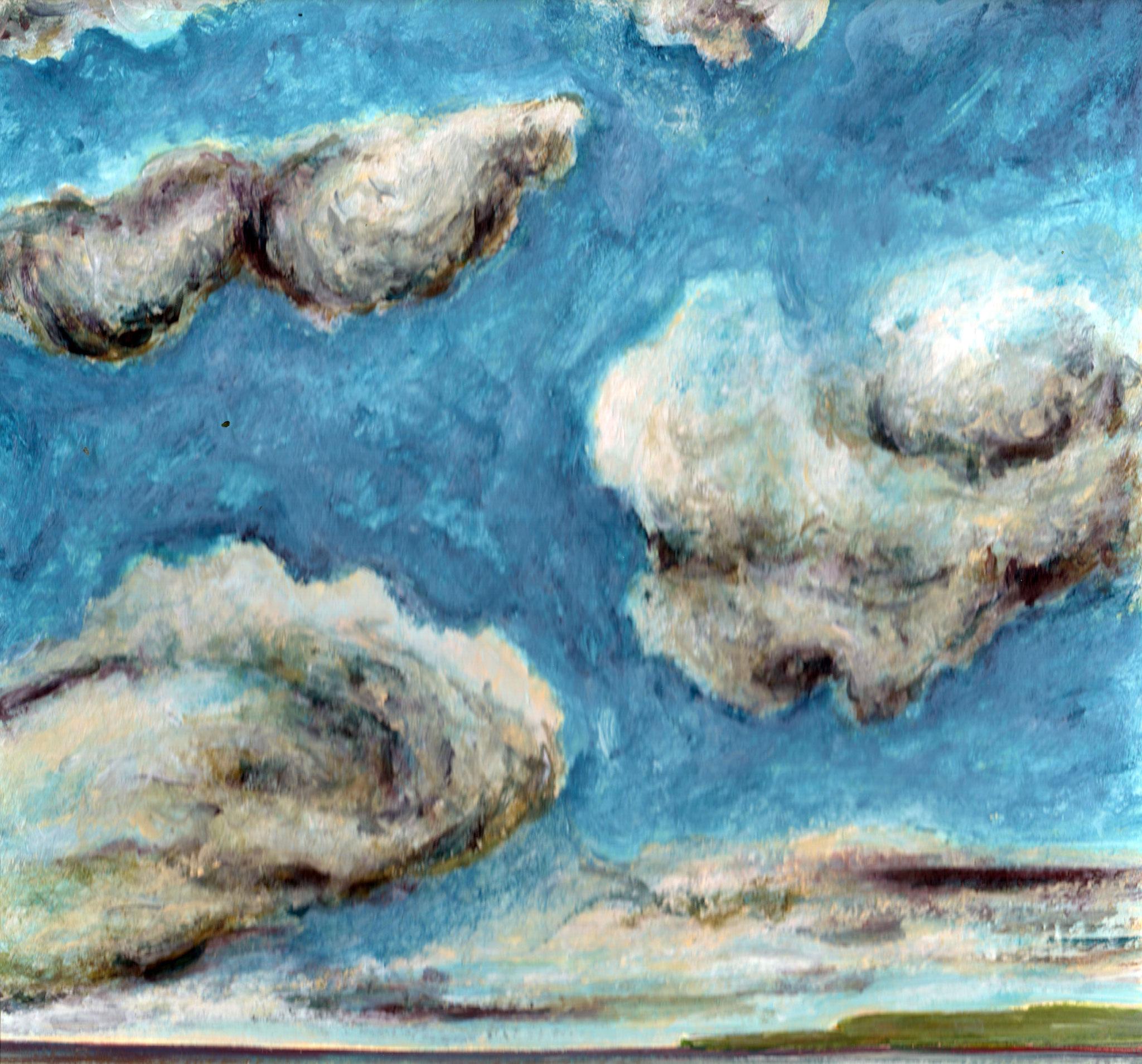 HONFLEUR/HOMMAGE A EDOUARD BOUDIN     Acryl auf Karton - 21 x 27 cm