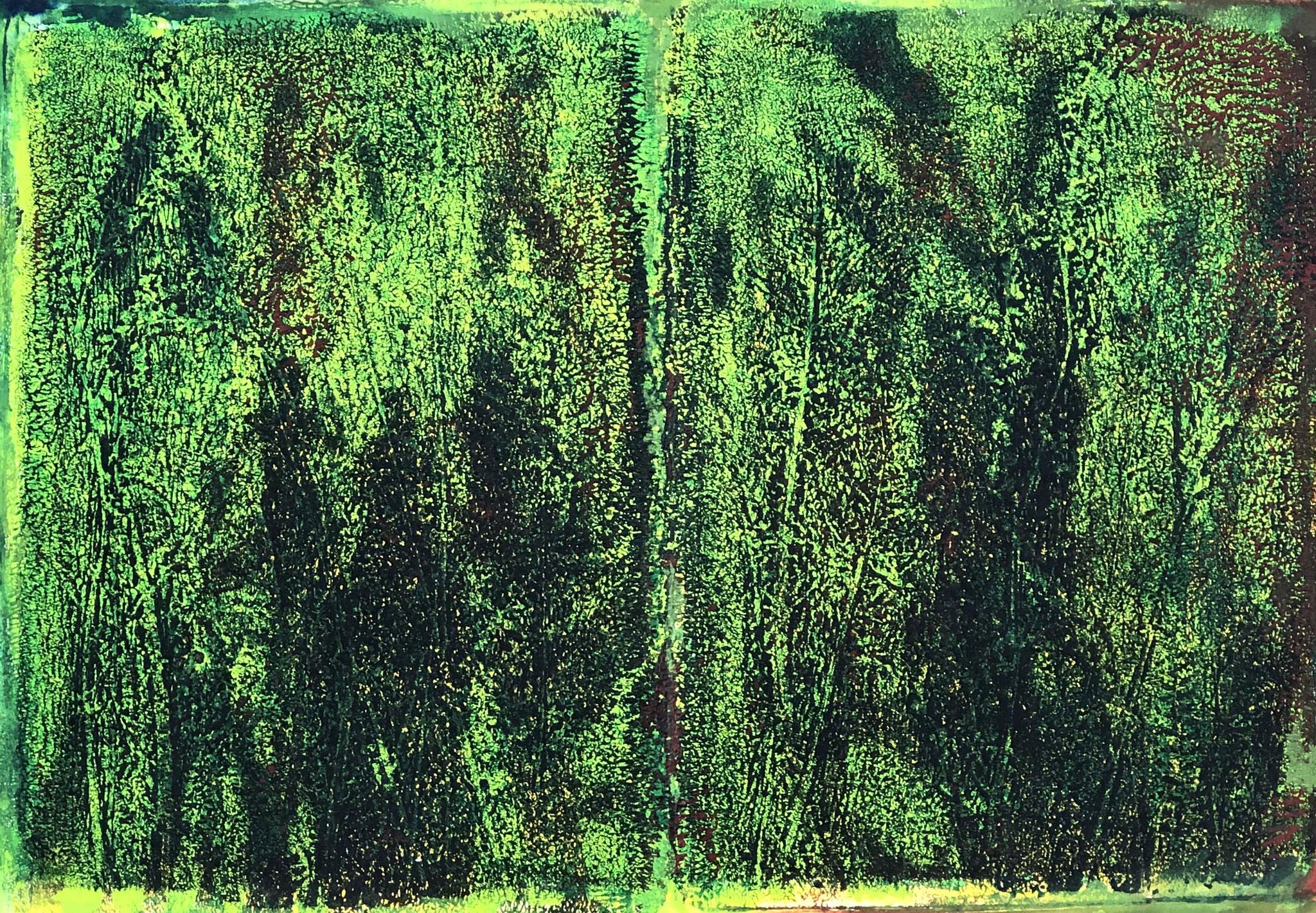 WINGS-BE BOP LINK Acryl auf Papier - 36 x 48 cm