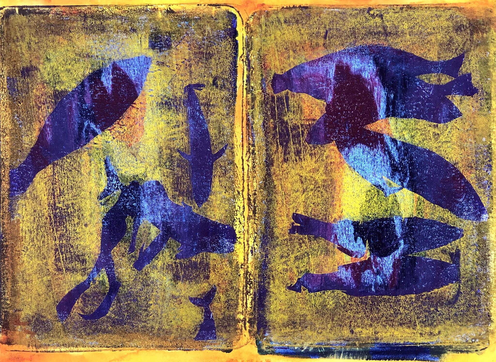 WINGS-BE BOP Acryl auf Papier - 36 x 48 cm