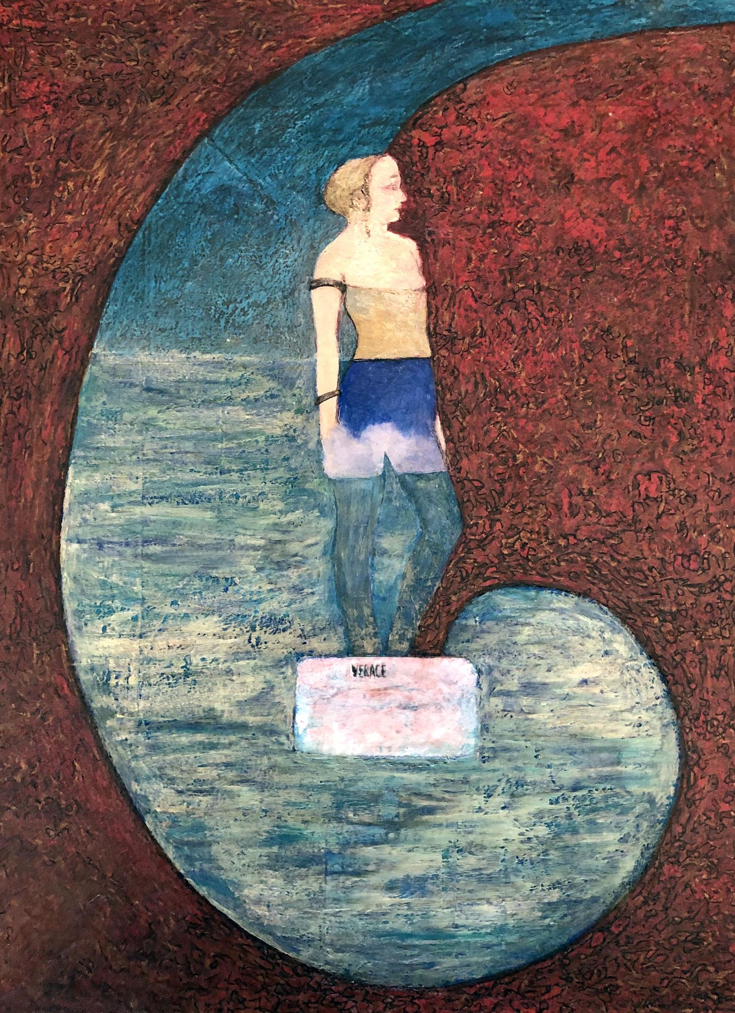 TARANTO/LAMA, VERACE      Acryl auf Papier - 40 x 30 cm