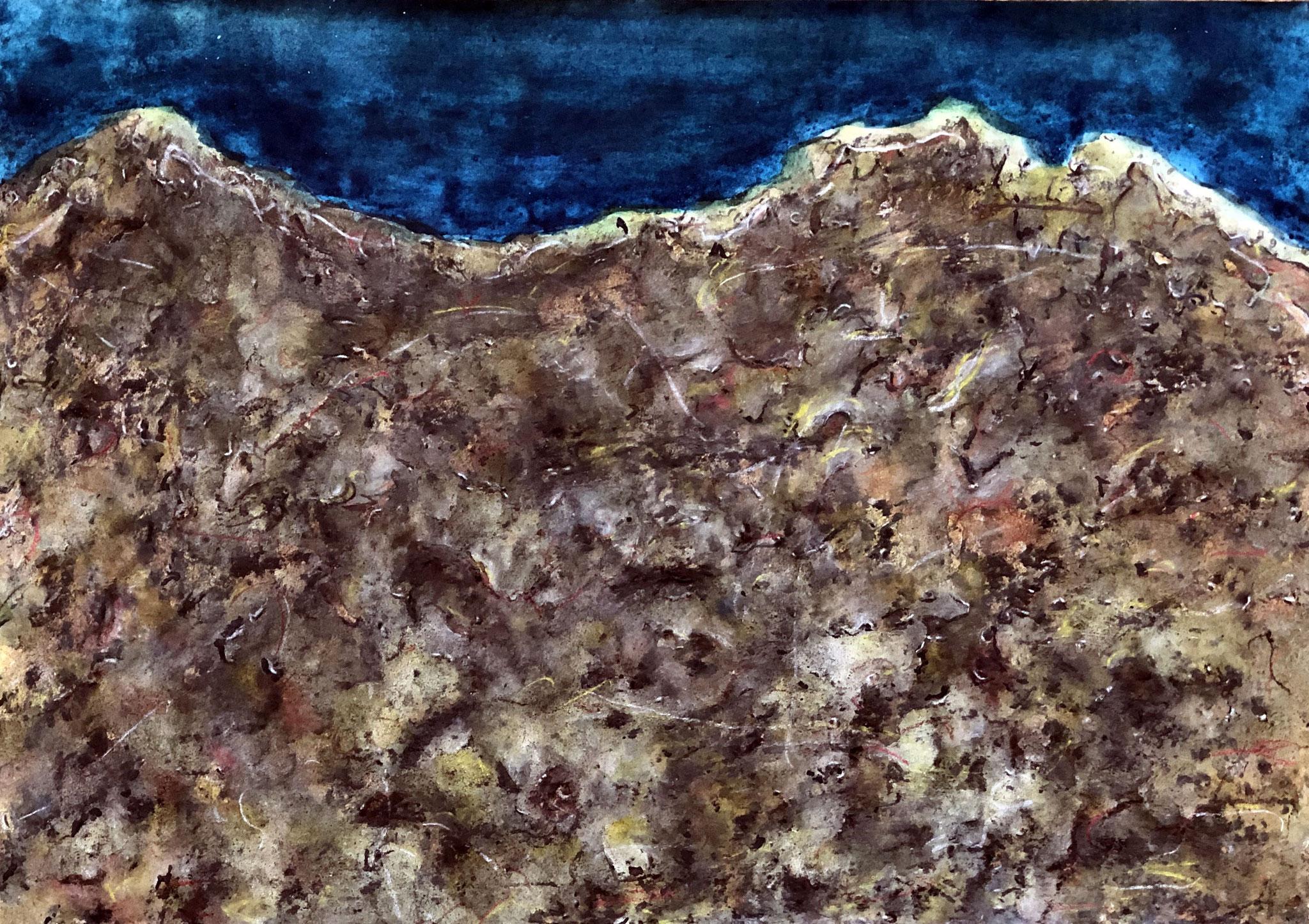 HENT COZ AR MOR I, Mischtechnik auf Papier - 29,5 x 42 cm
