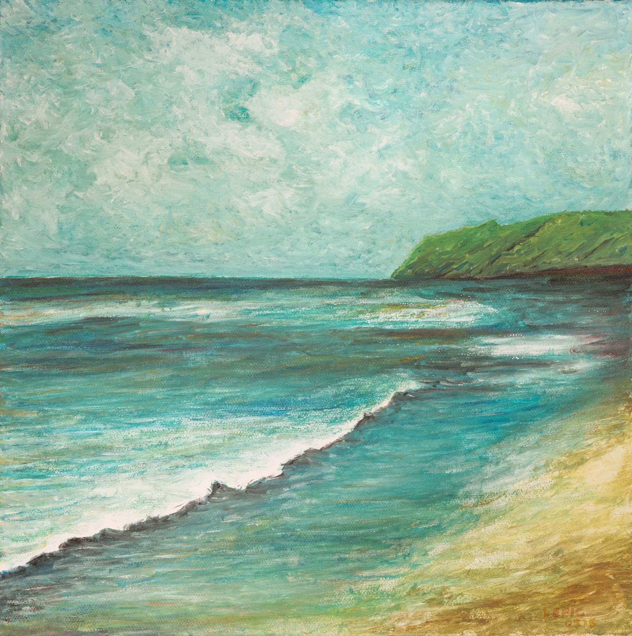 OSTSEE BEI VITTE, HIDDENSEE   Acryl auf Leinwand - 40 x 40 cm