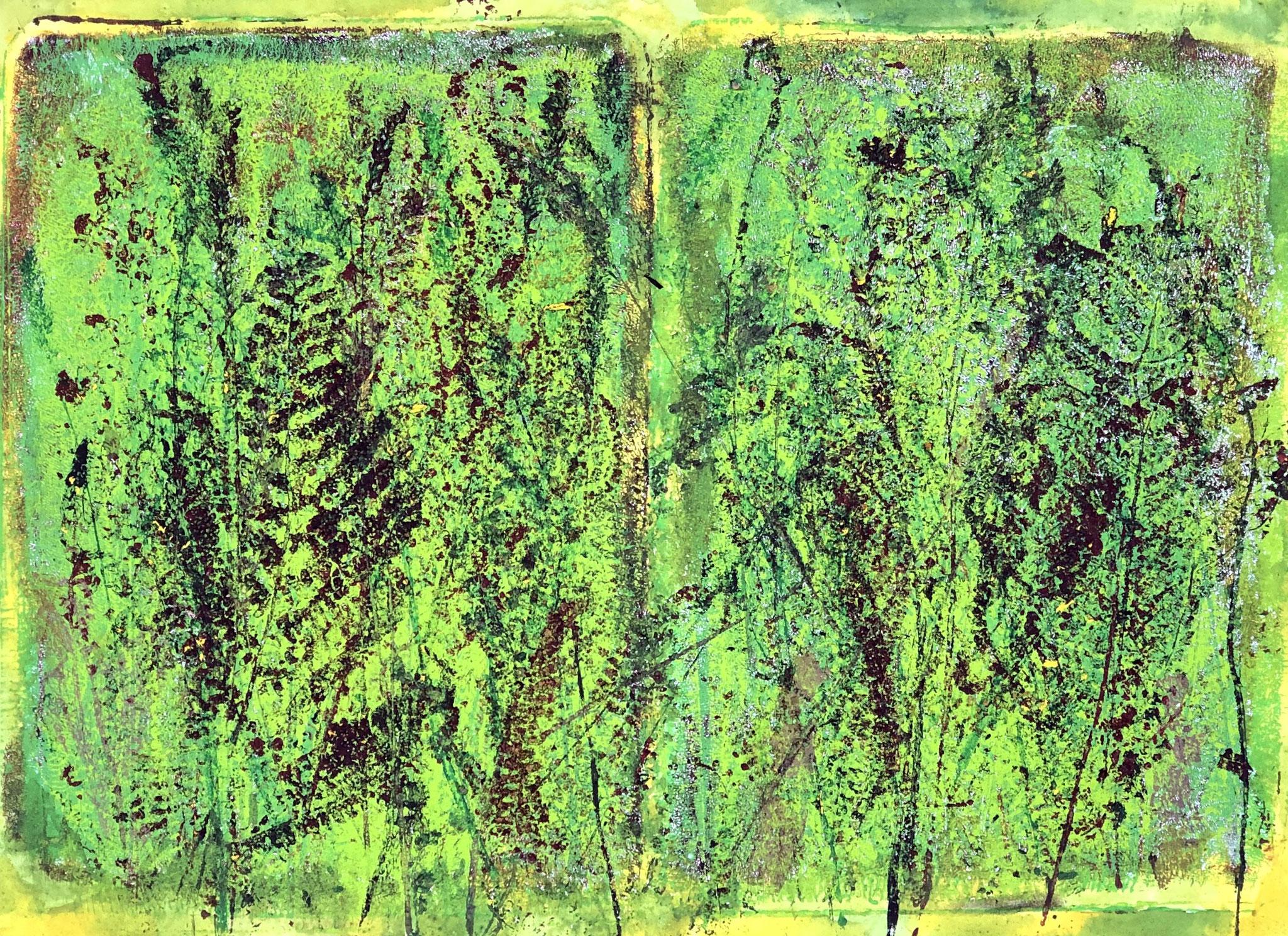 WINGS-TOMORROW Acryl auf Papier - 36 x 48 cm