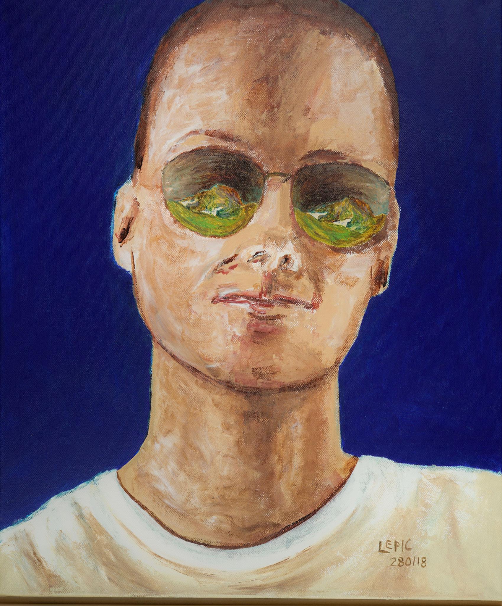 FÖHNJUNGE IN OHLSTADT Acryl auf Leinwand - 60 x 50 cm