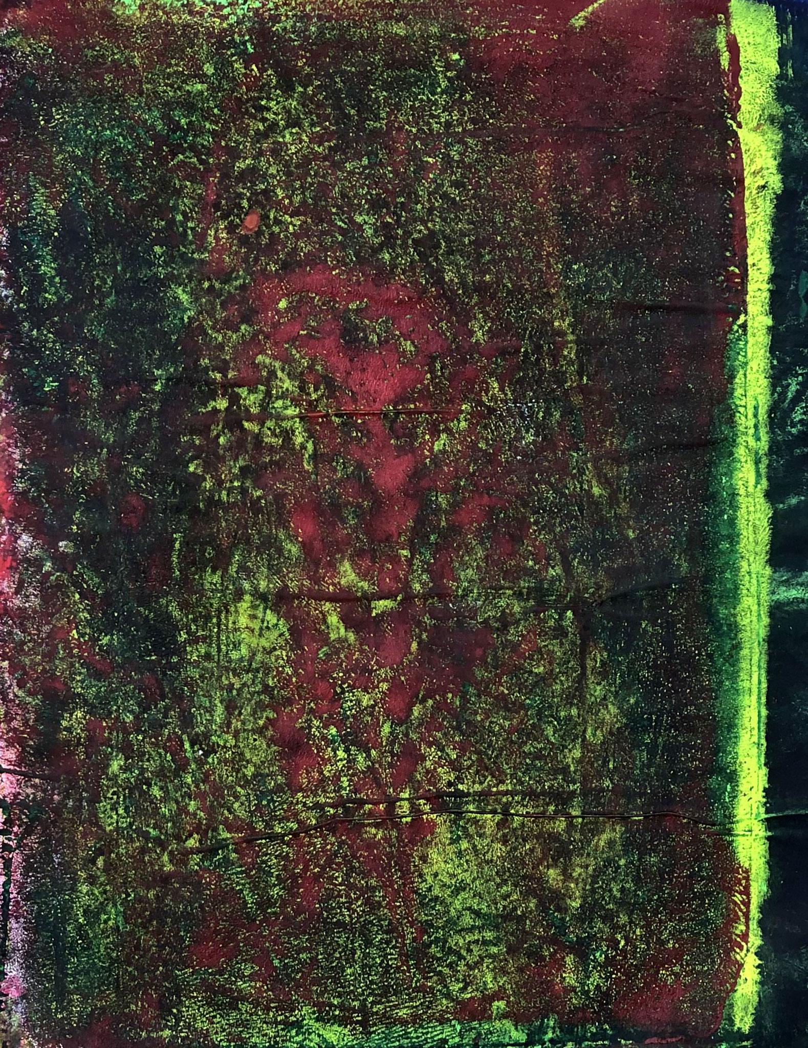 WINGS-DEAR FRIEND Acryl auf Papier - 40 x 30 cm