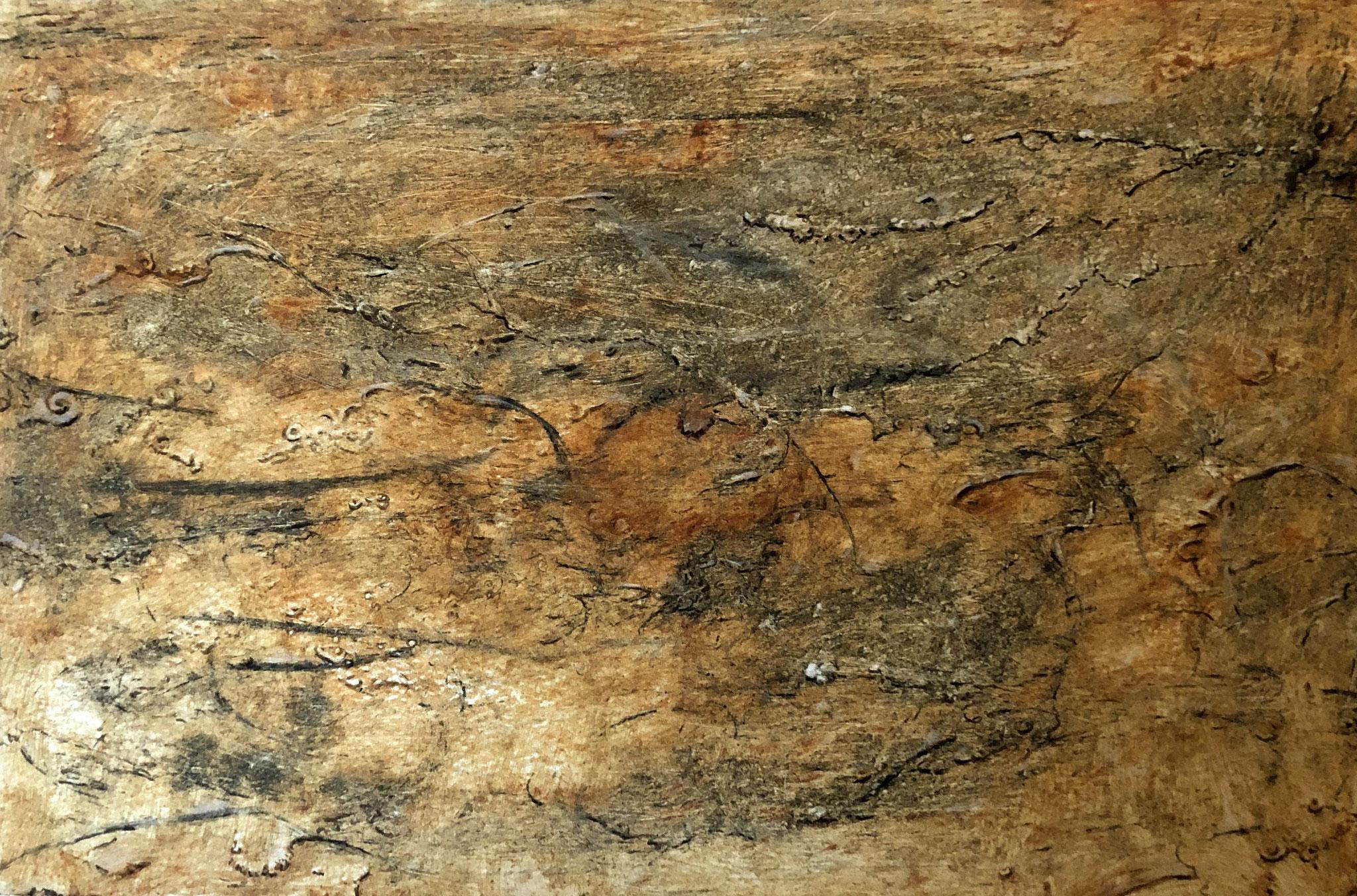 RETINTO II    Kalkstein, Ton und Kreidestein auf Papier - 21 x 29 cm