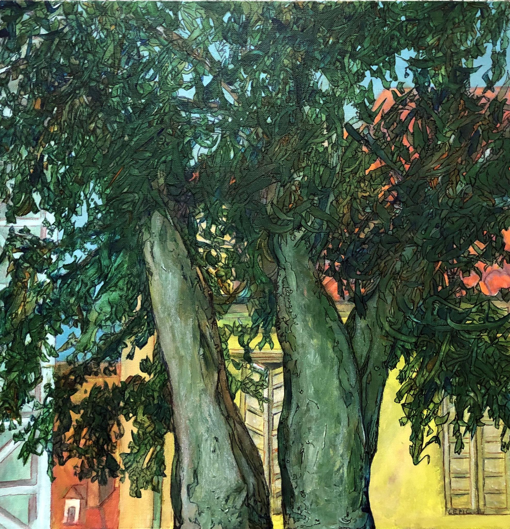 TRIESTE      Acryl auf Leinwand - 40 x 40 cm