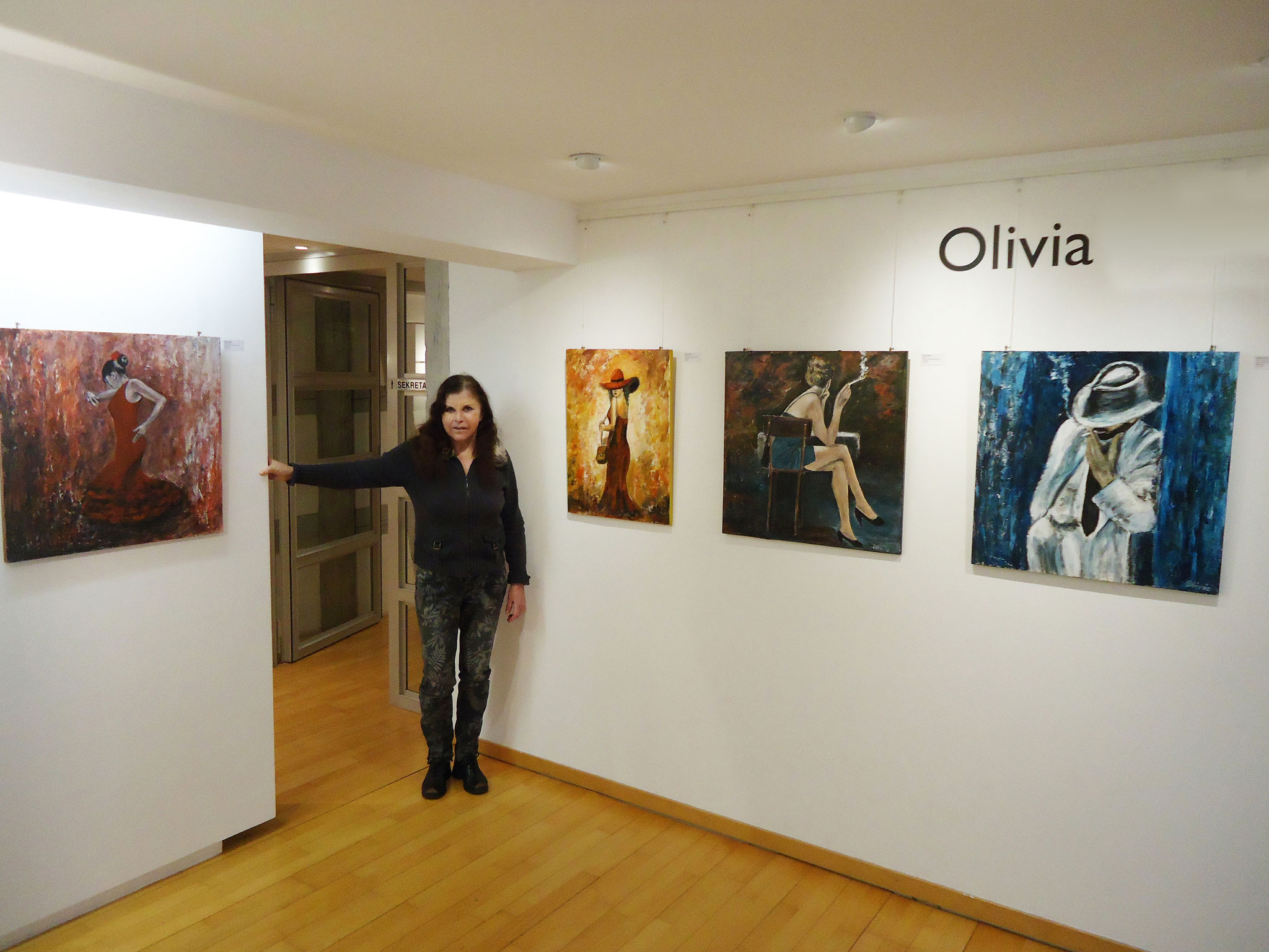 With the paintings at Art Forum