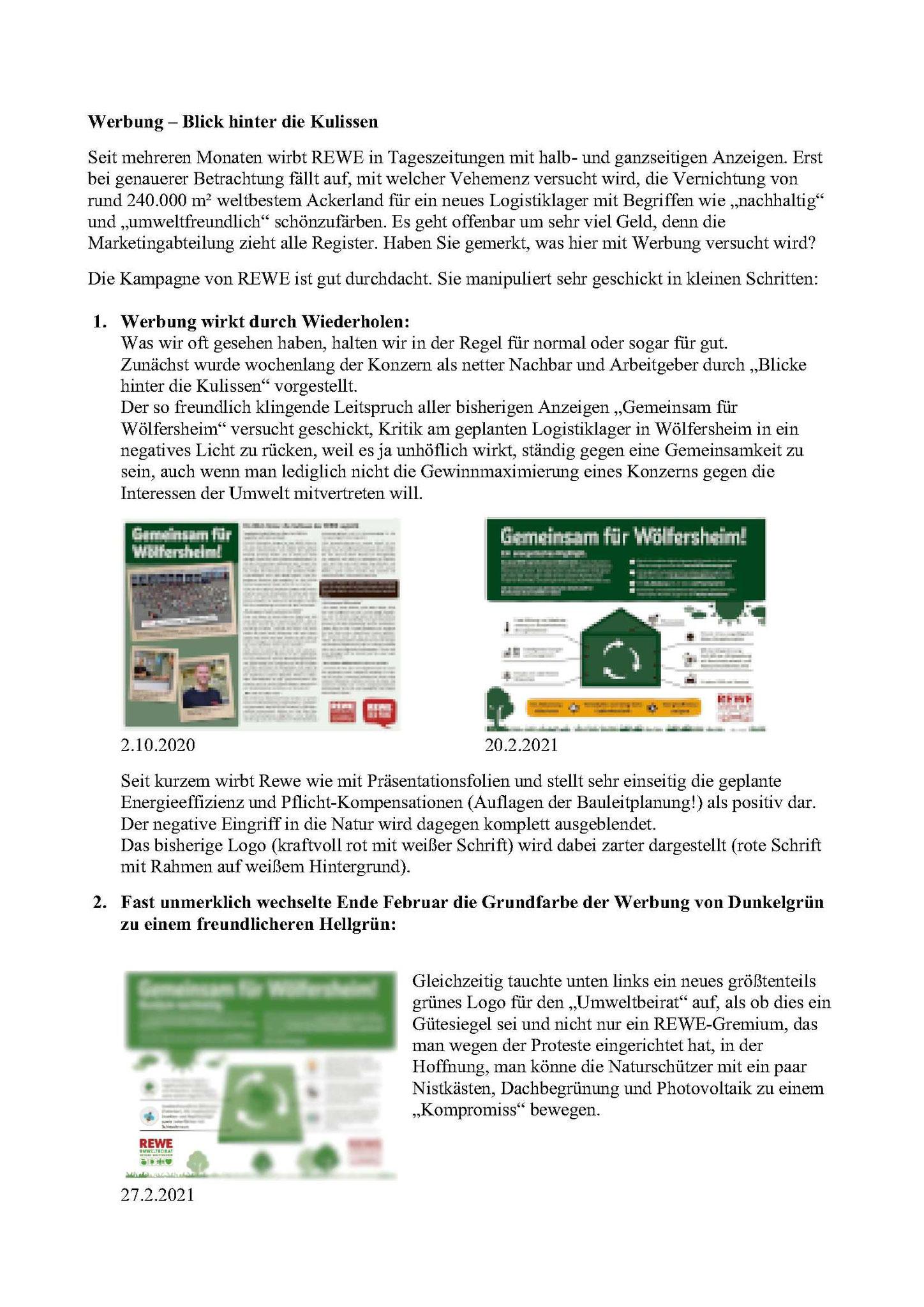 Werbe-Analyse des REWE Kommunikationskonzeptes von Dr. Martin Saltzwedel