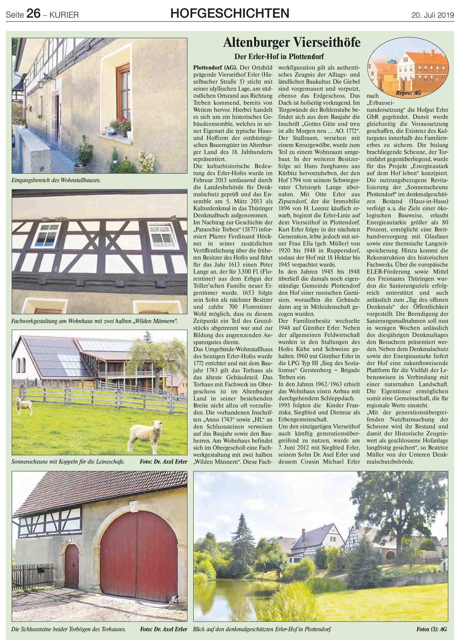 Hof Erler - Vierseithof Plottendorf