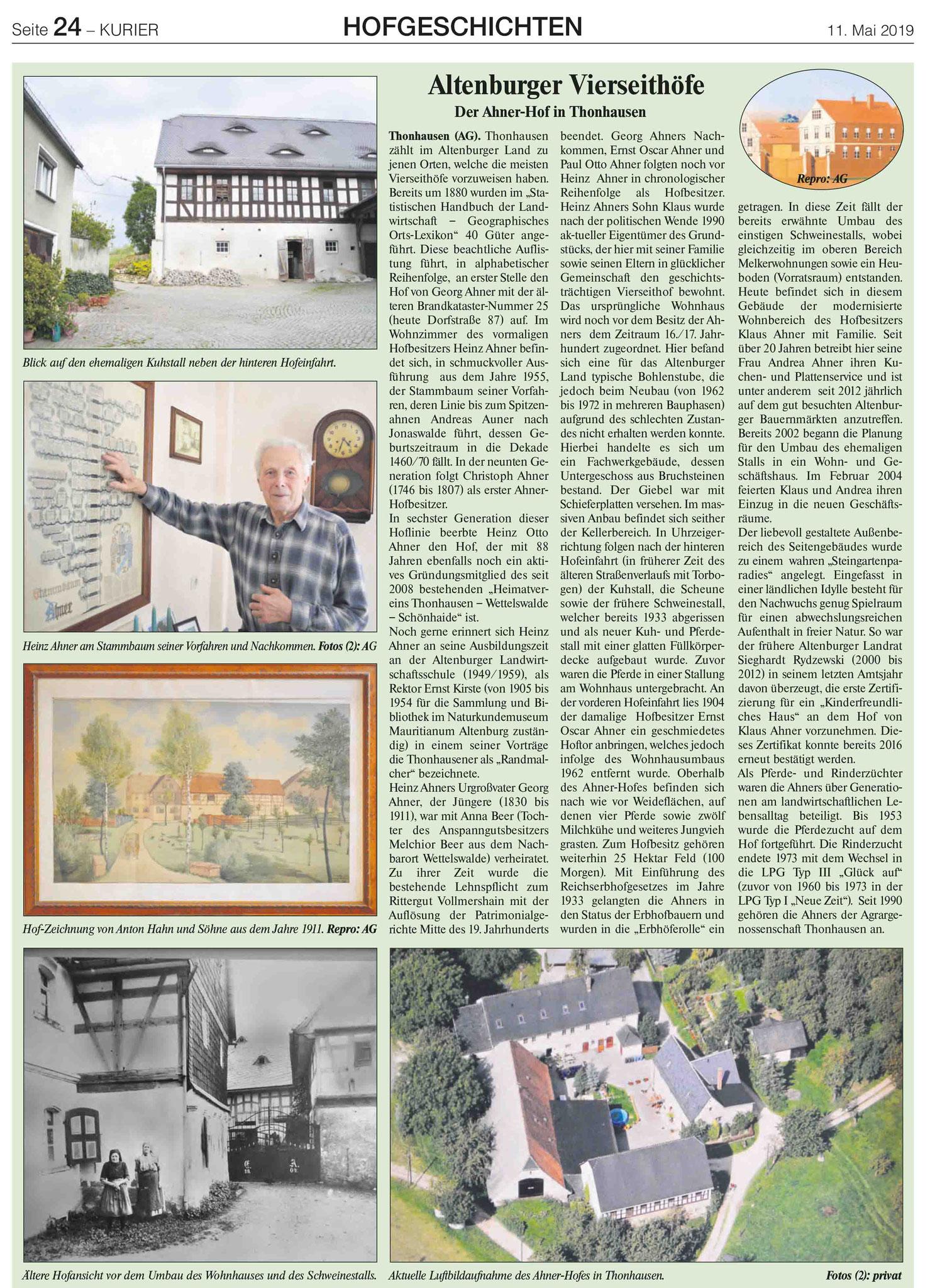 Hof Ahner in Thonhausen