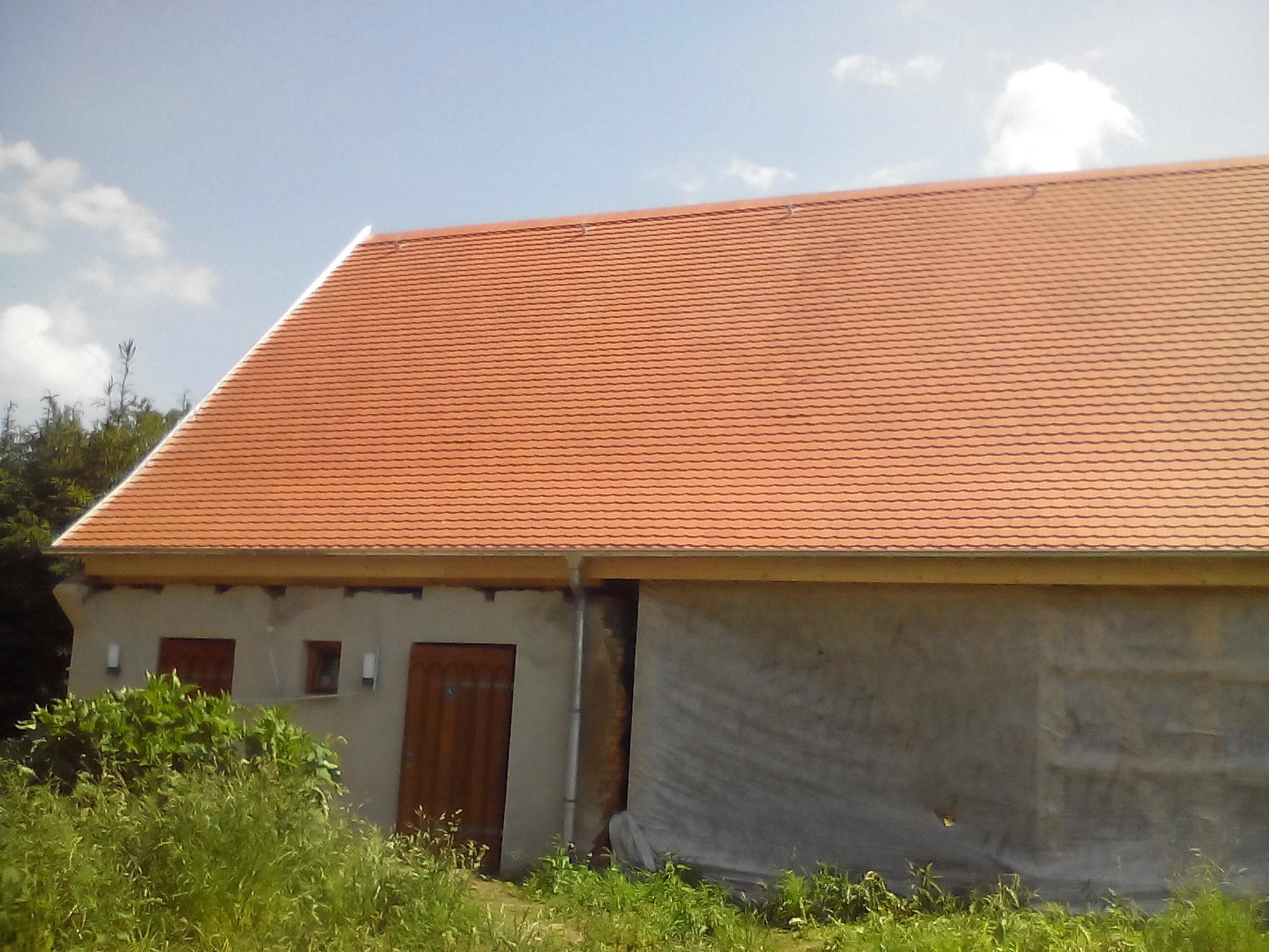Das neue Dach ist drauf