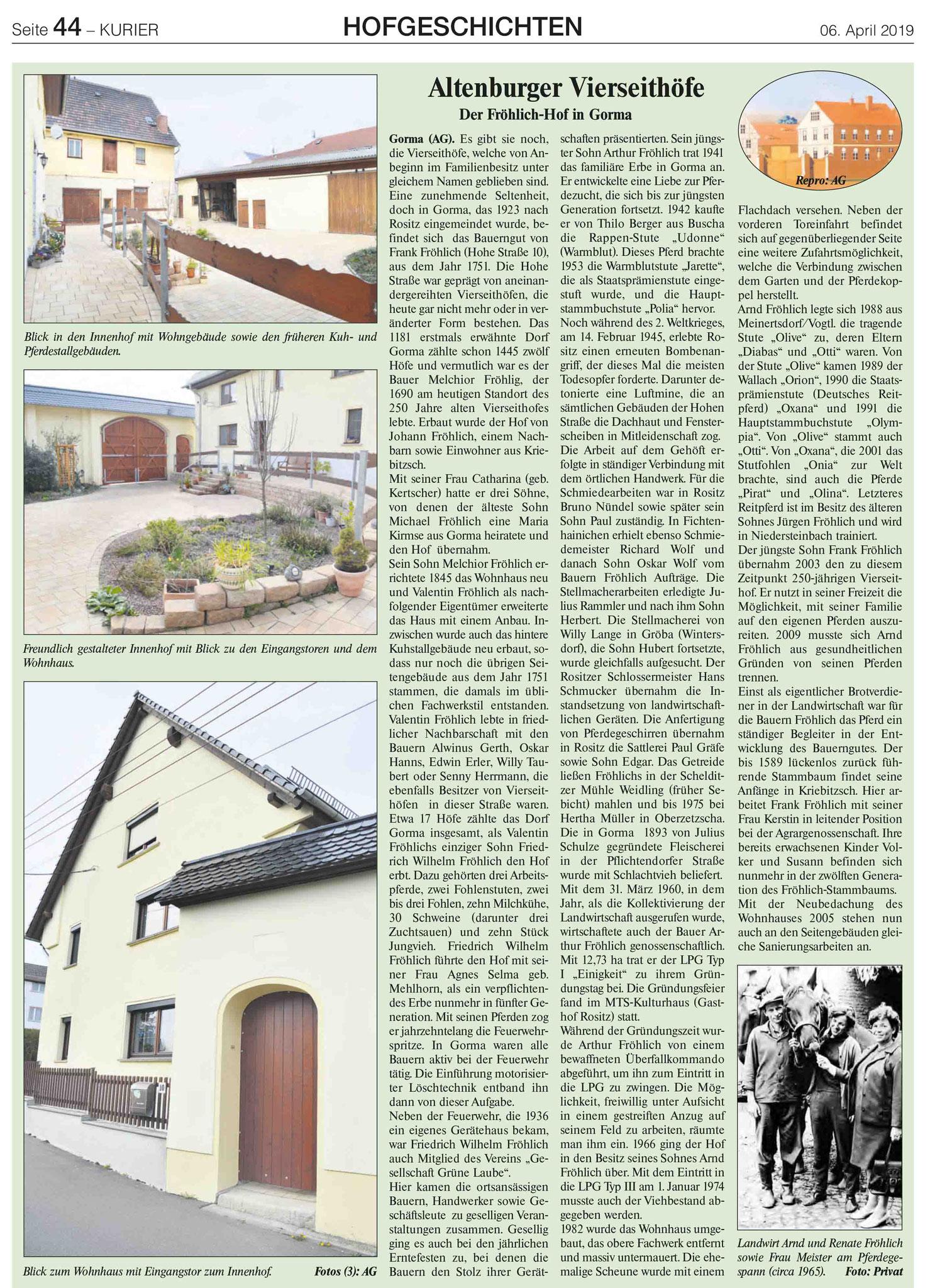 Hof Fröhlich in Gorma