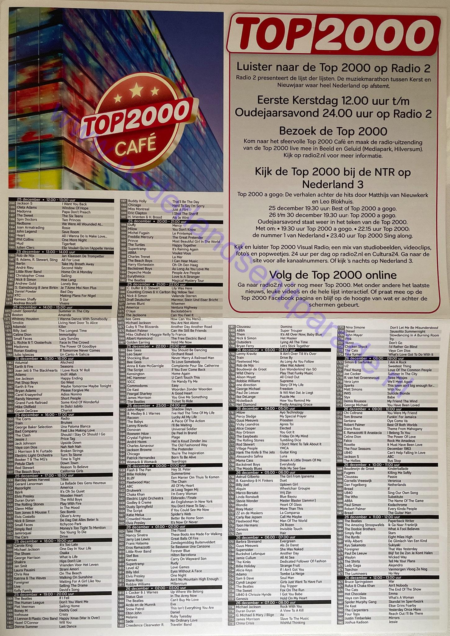 Top 2000 krant 2011