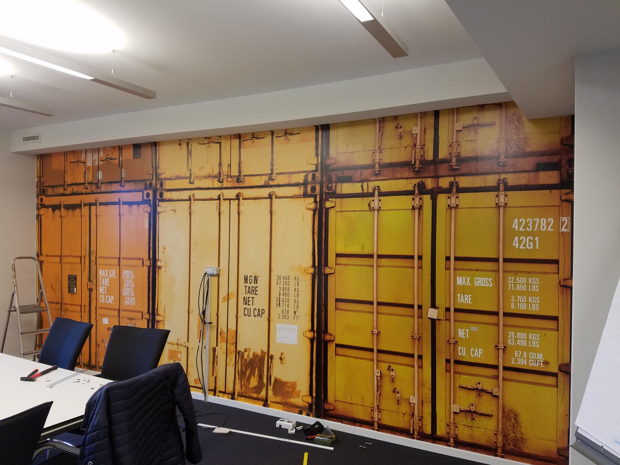 Containerwand Parship-Elite Hamburg als Digitaldruck auf Wand ablösber