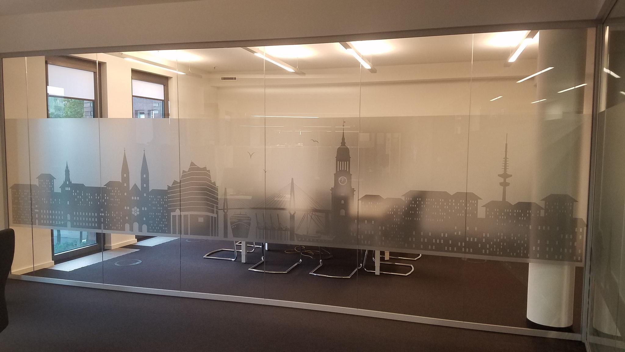 Digitaldruck auf Glasmattierungsfolie sorgt für schöne Effekte