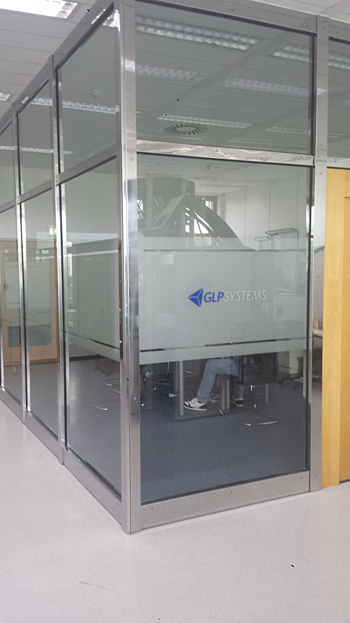 Sichtschutz für Besprechungsraum
