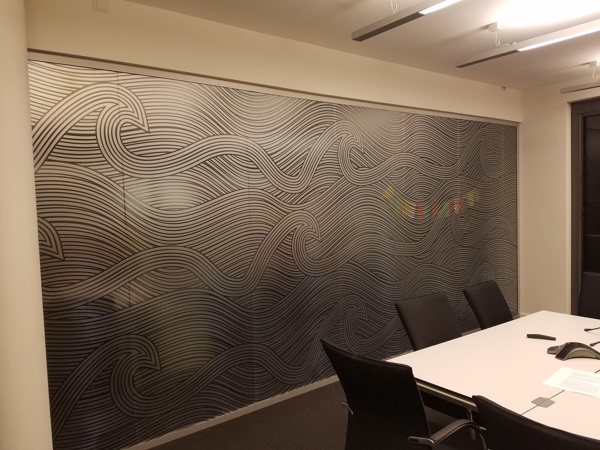 Parship Hamburg  Glaswandbeschichtung Glasdekorfolie  digital bedruckt