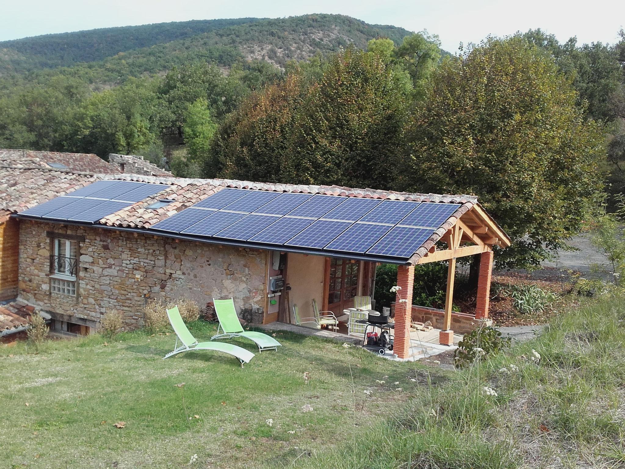 Extérieur, panneaux photovoltaïque