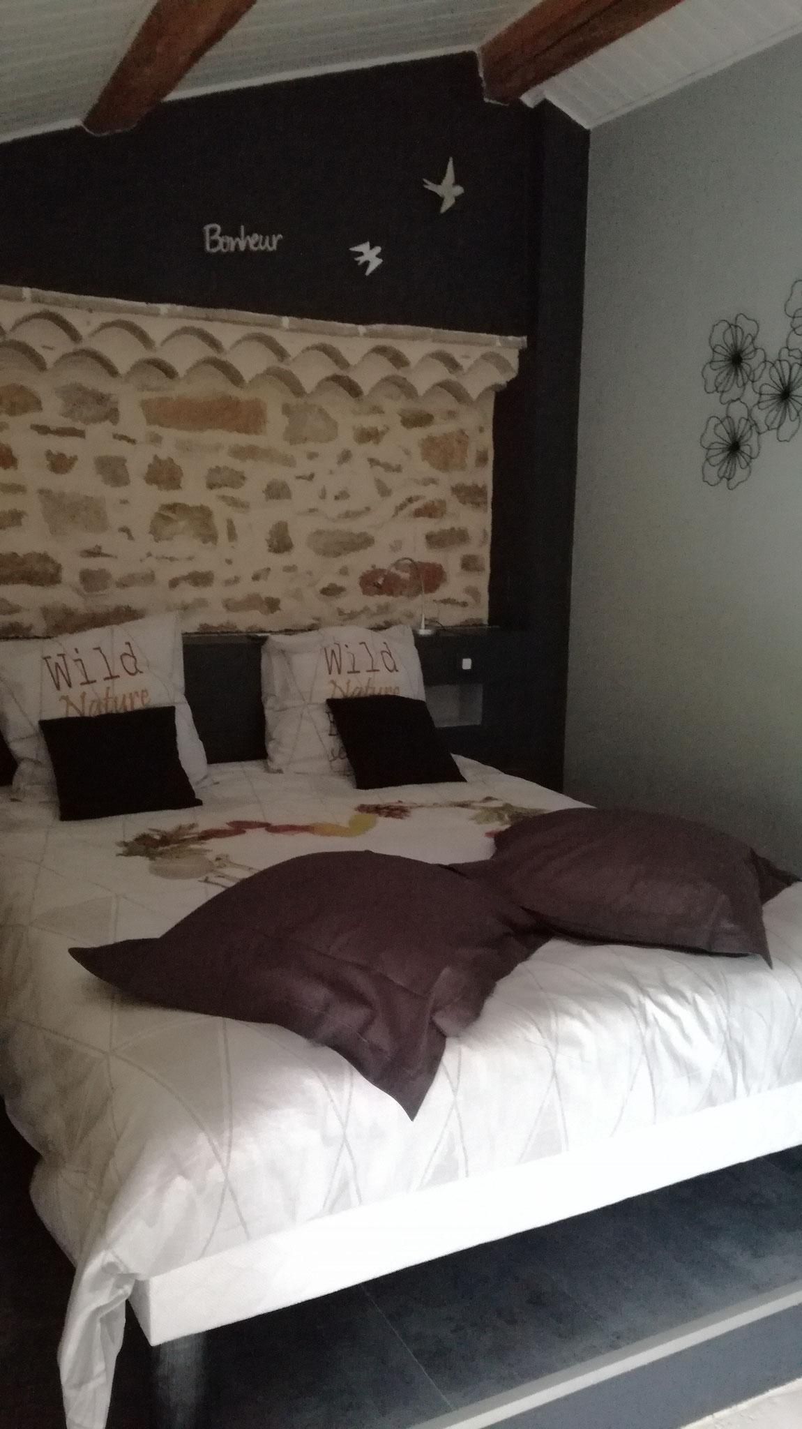 Chambre, lit en 160