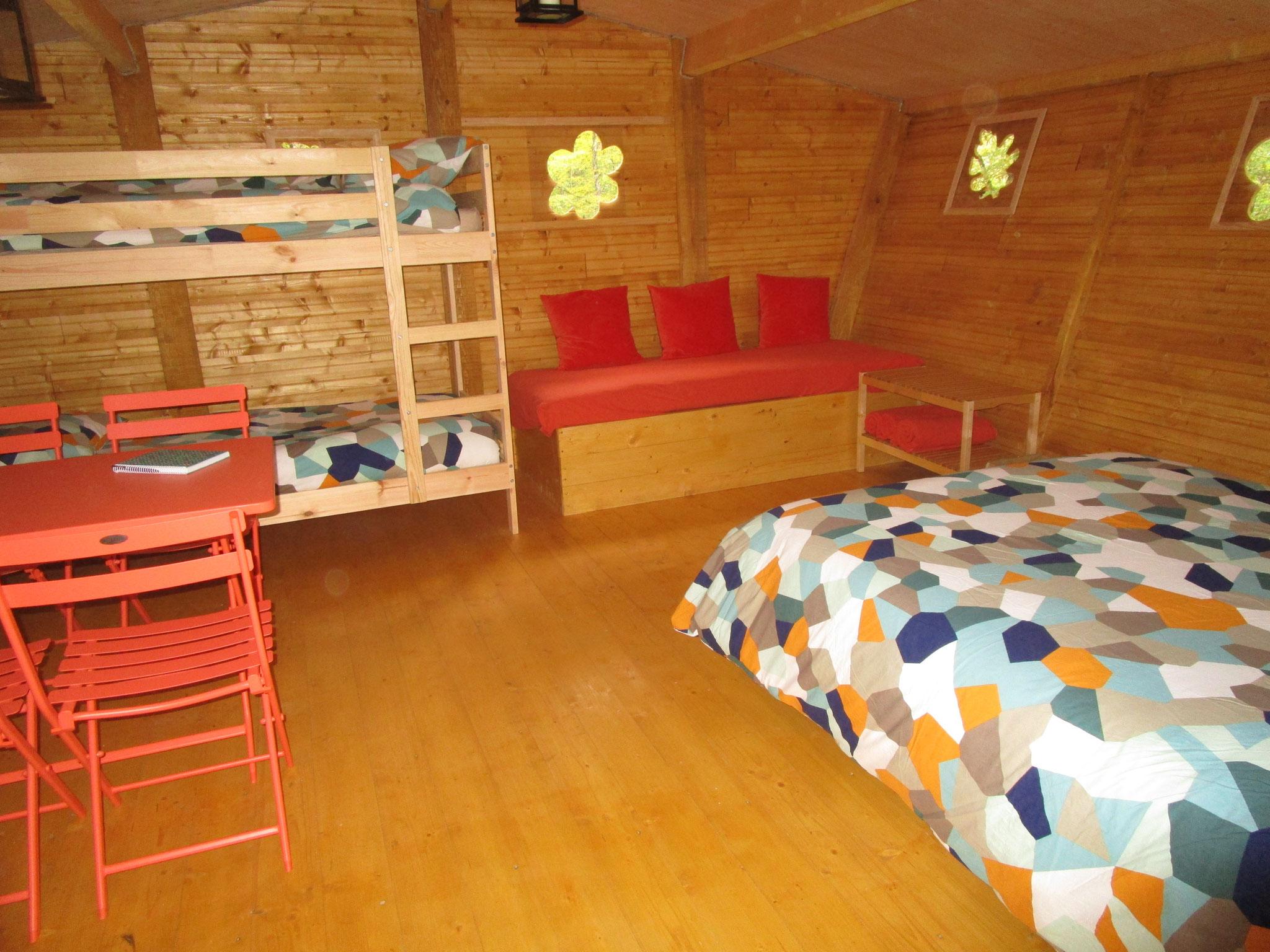 Nuit en famille  cabane originale dans les arbres Val de Loire