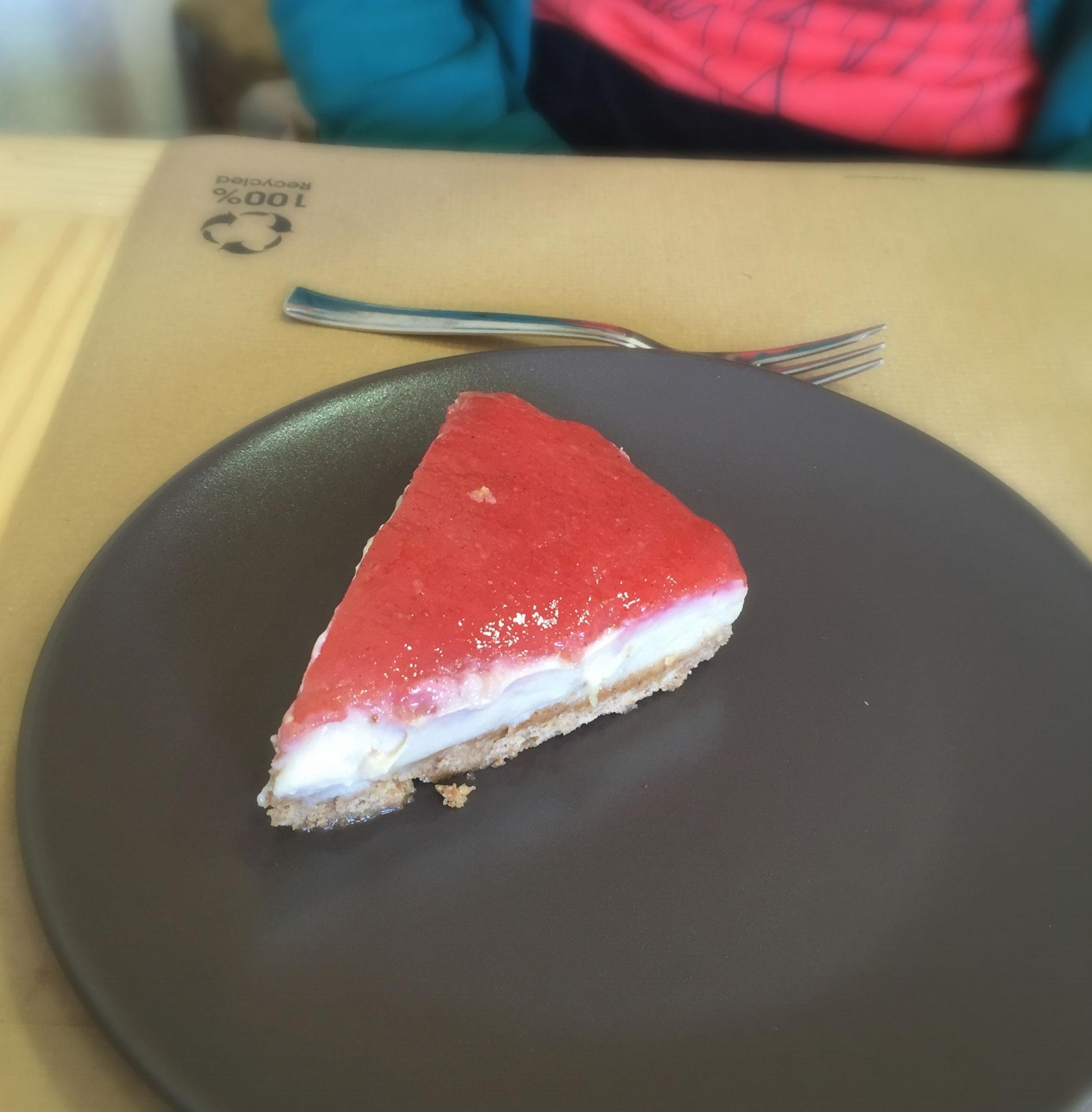 Malaika, tarta de queso con frutos rojos vegana, Puerto de la Cruz