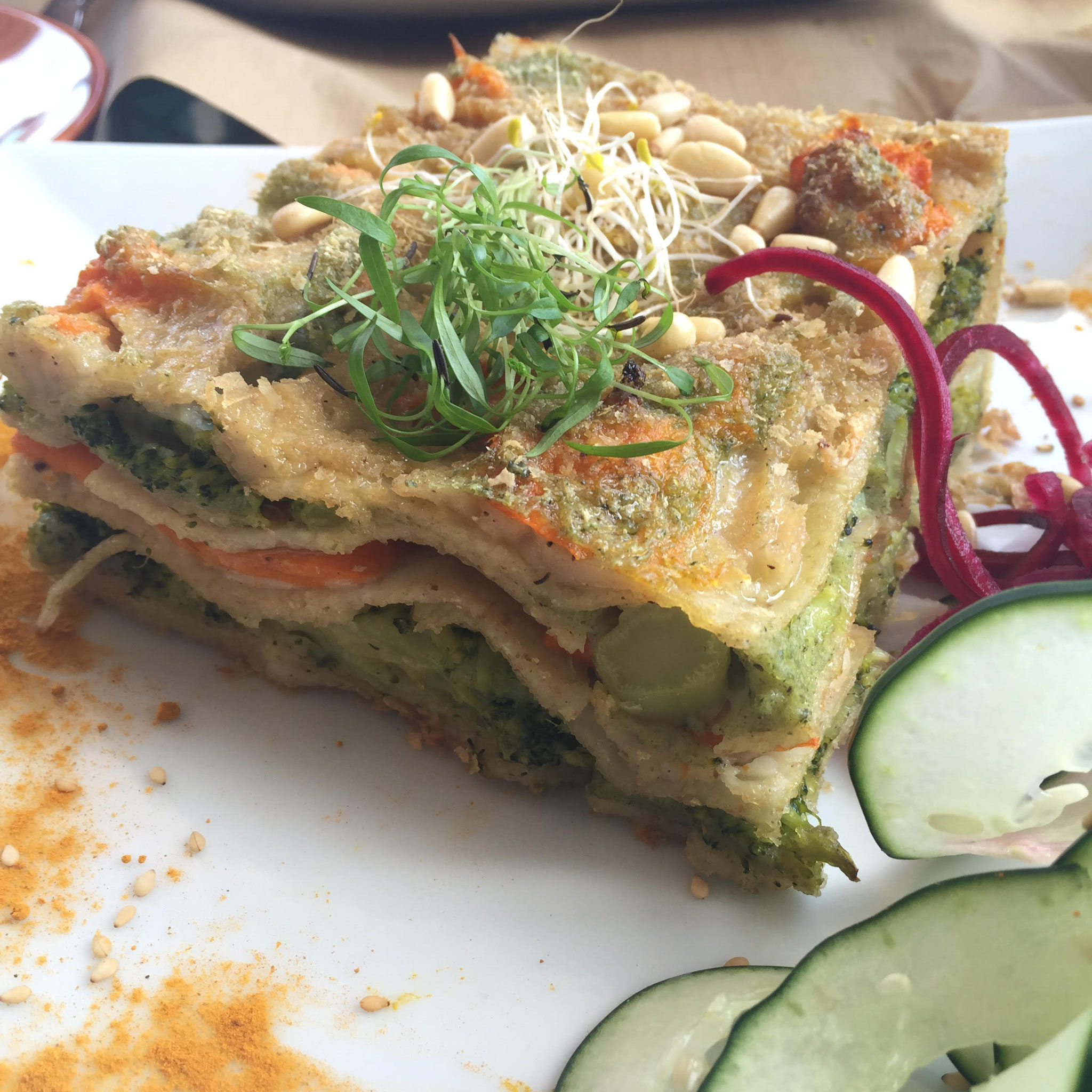 Samelo Vegan and Veggies Lasagna. Abades