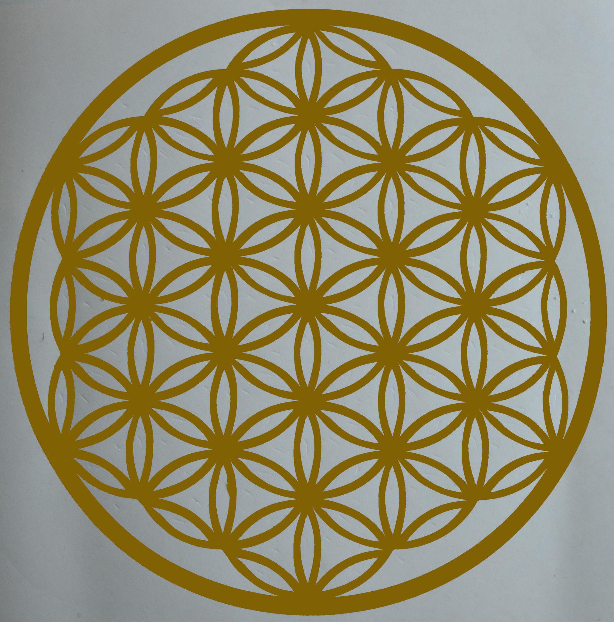 Sticker Fleur de Vie de couleur dorée