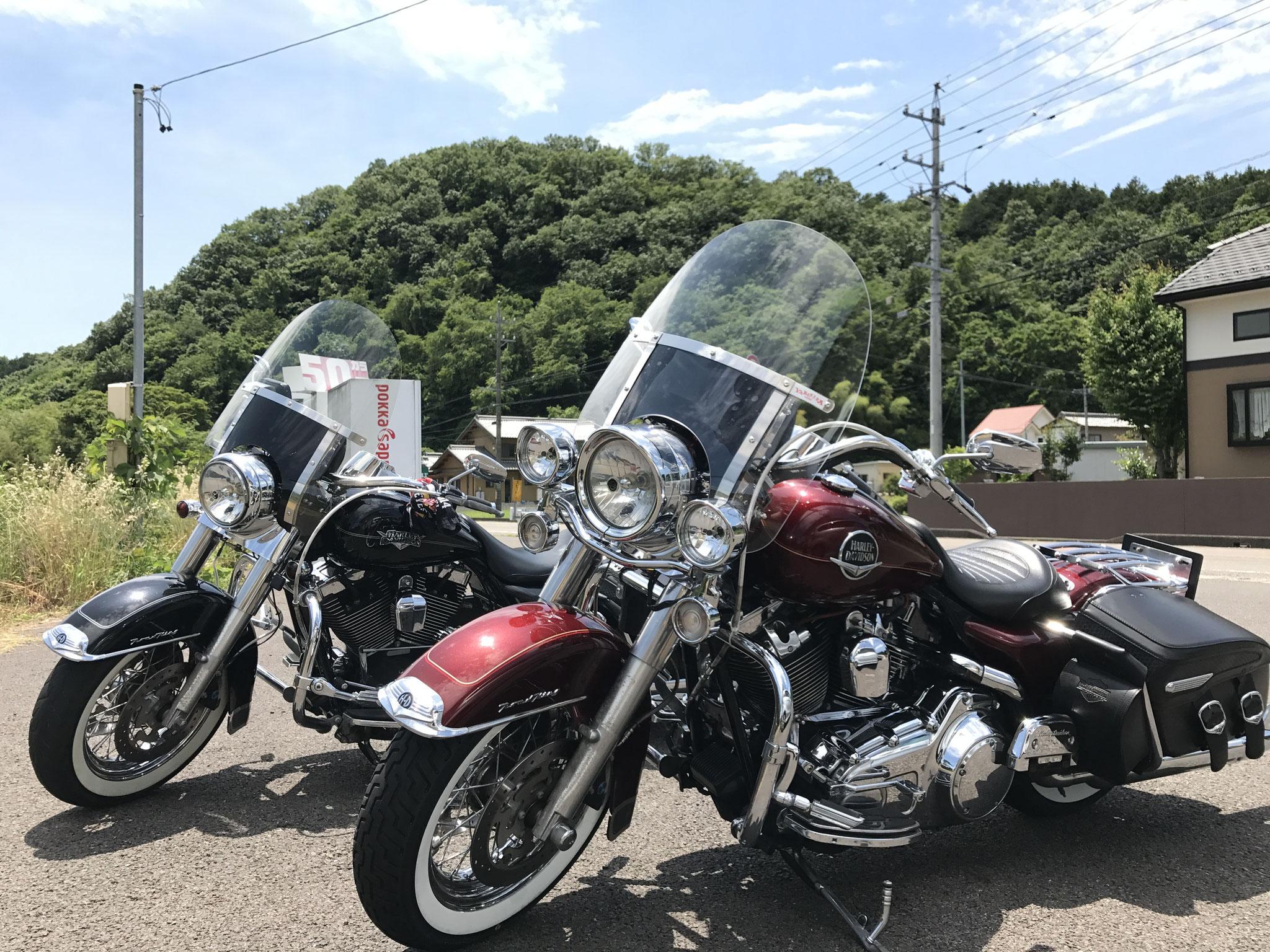 バイクを置くスペースも十分あります。