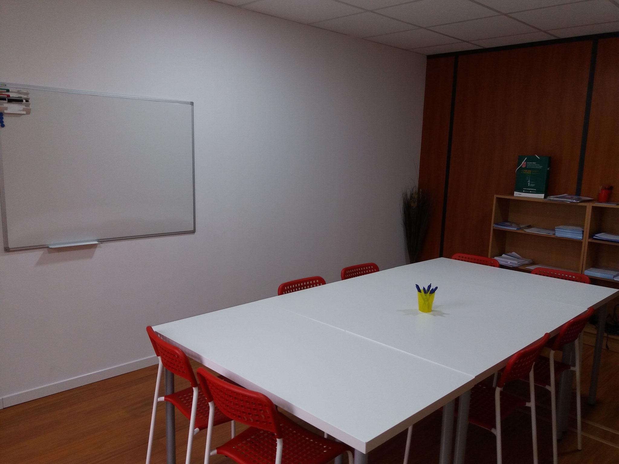 Notre salle de formation -capacité jusqu'à 8 personnes