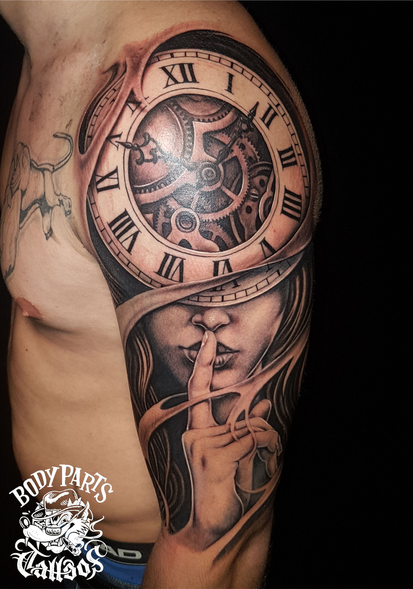 Black & Grey / Schwarz Graue Tattoos